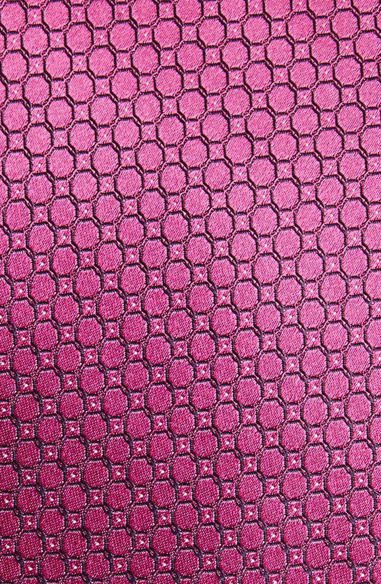 Geometric Silk Skinny Tie,                             Alternate thumbnail 2, color,                             650