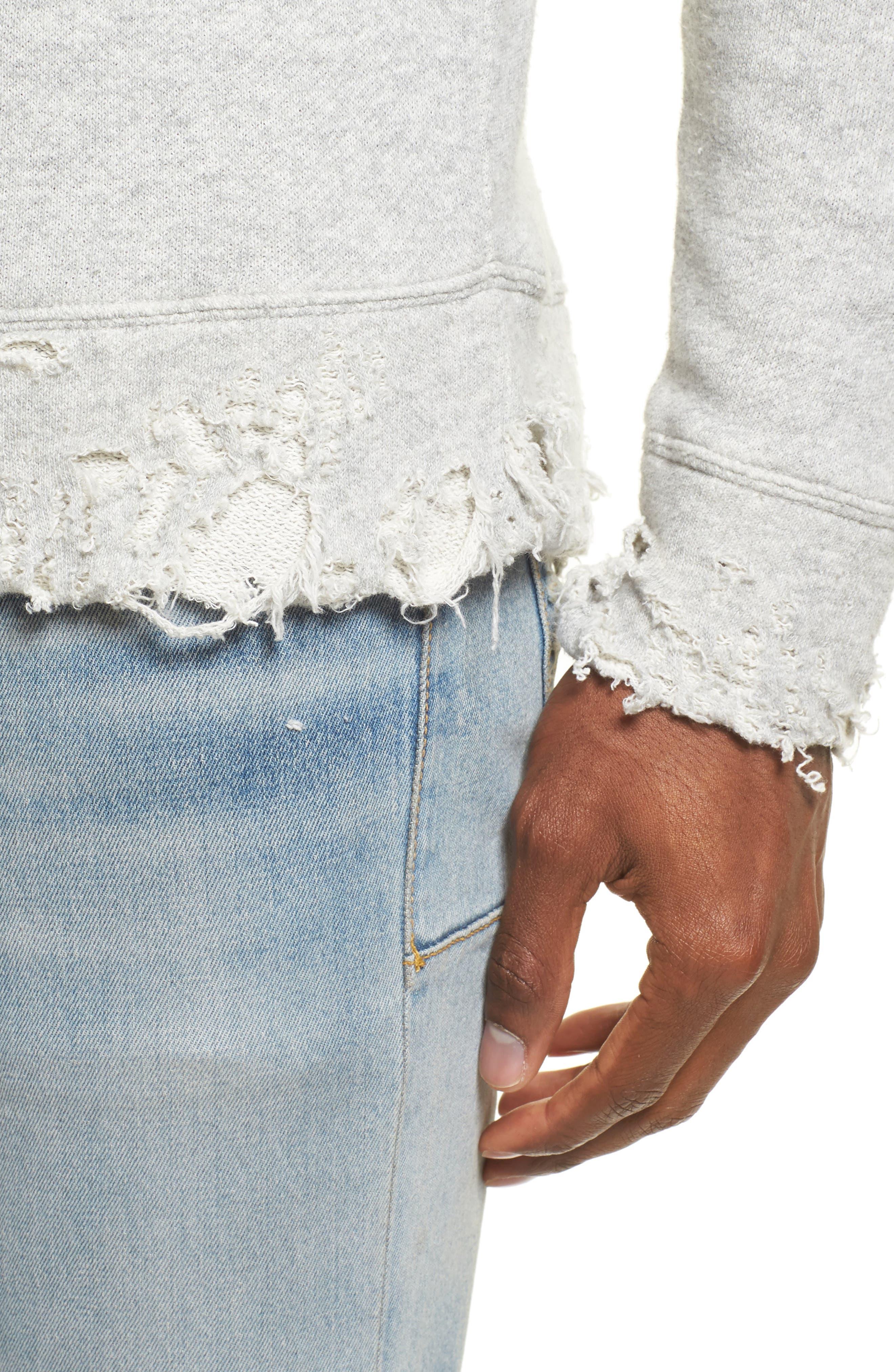 R13,                             Vintage Distressed Sweatshirt,                             Alternate thumbnail 4, color,                             071