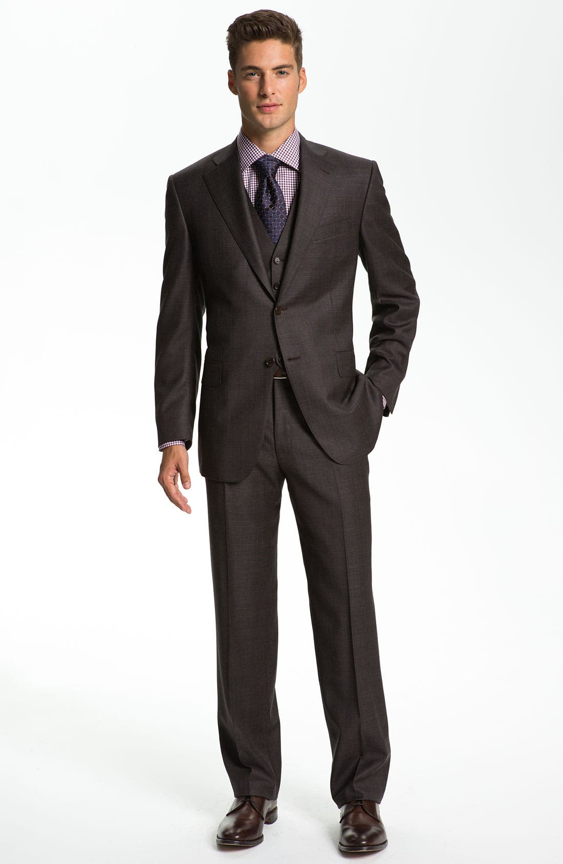 Three Piece Wool Suit,                             Alternate thumbnail 5, color,                             200