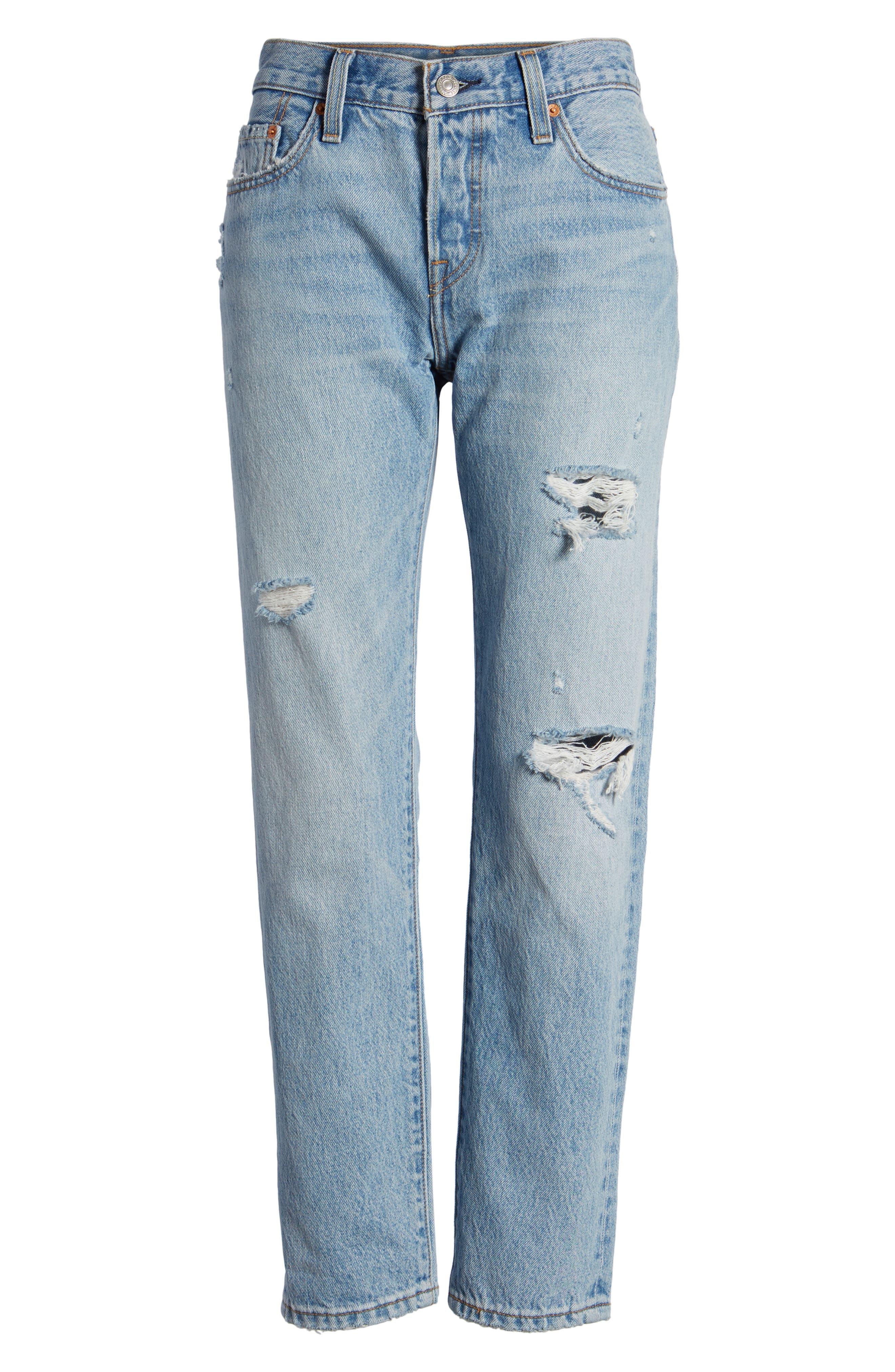 501<sup>®</sup> Boyfriend Jeans,                             Alternate thumbnail 7, color,                             450