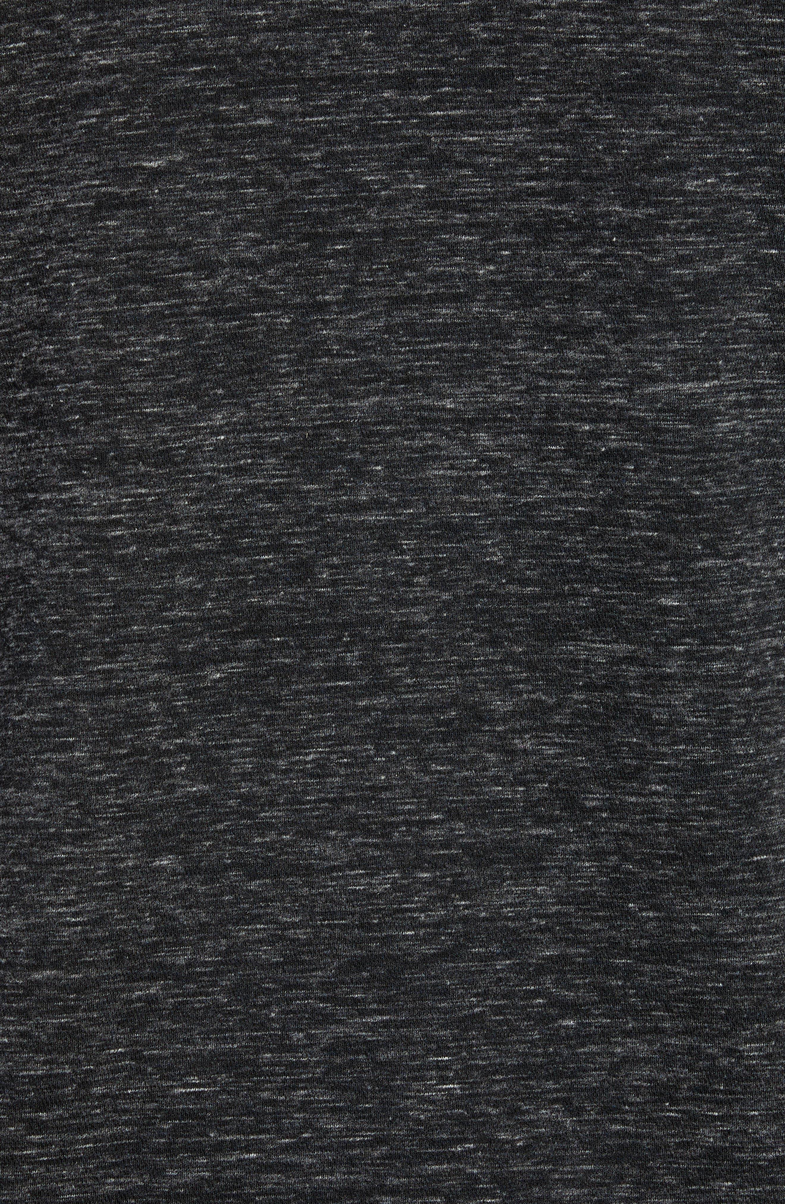 Stretch Knit Bomber Jacket,                             Alternate thumbnail 6, color,                             GREY EBONY HEATHER