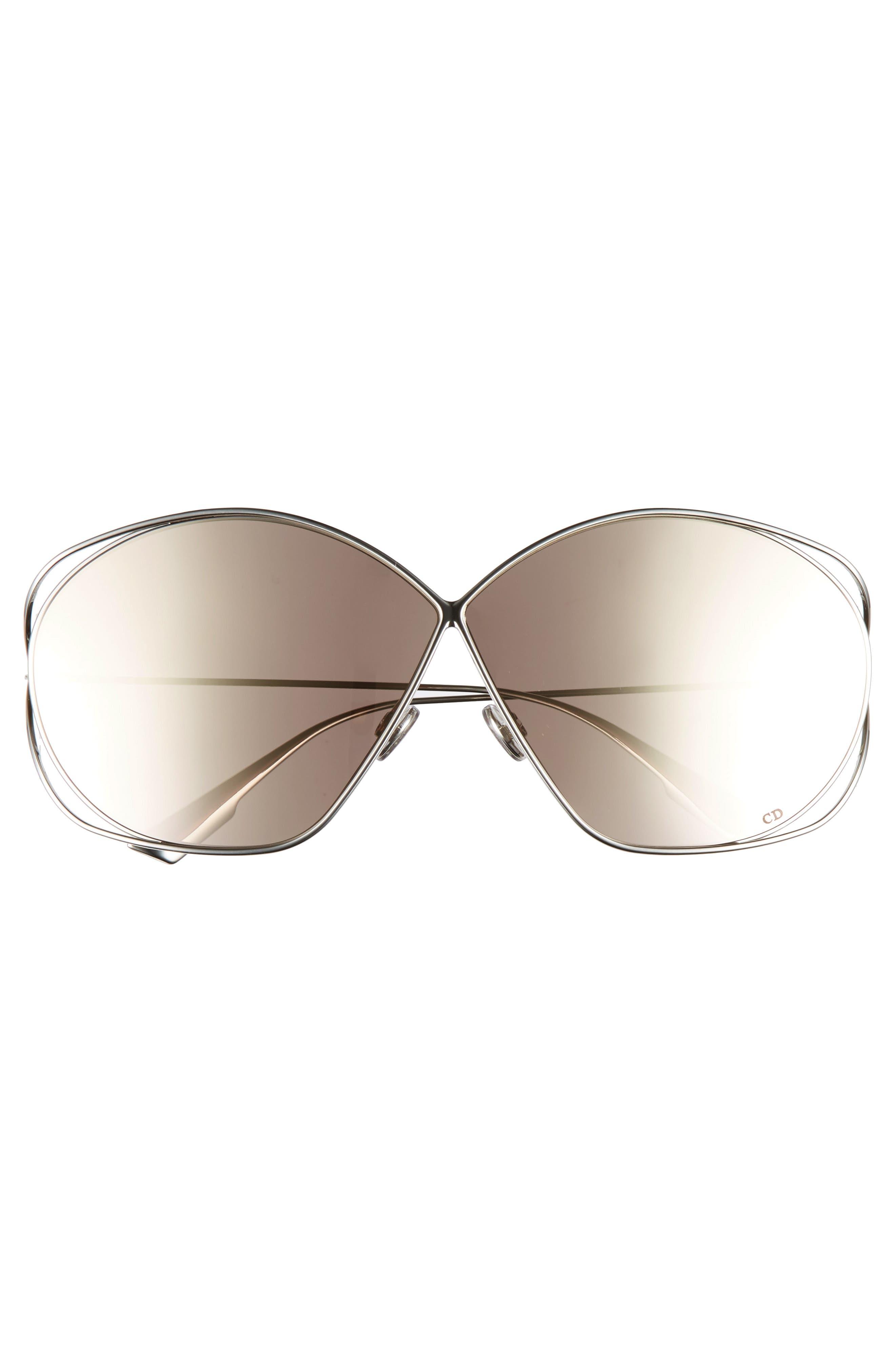 Stellaire 2 68mm Oversize Butterfly Sunglasses,                             Alternate thumbnail 3, color,                             PALLADIUM