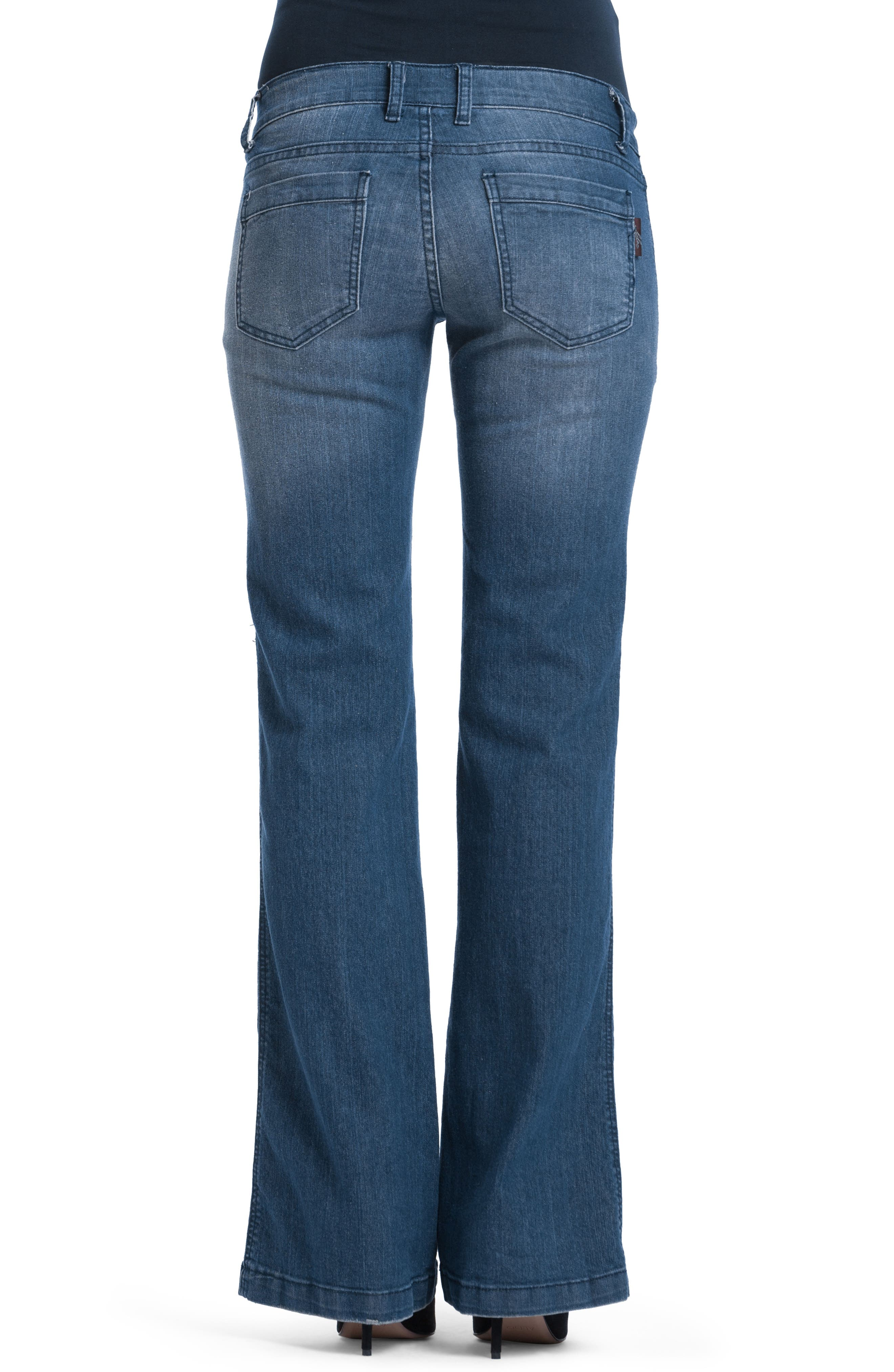 Flare Maternity Stretch Jeans,                             Alternate thumbnail 2, color,                             401