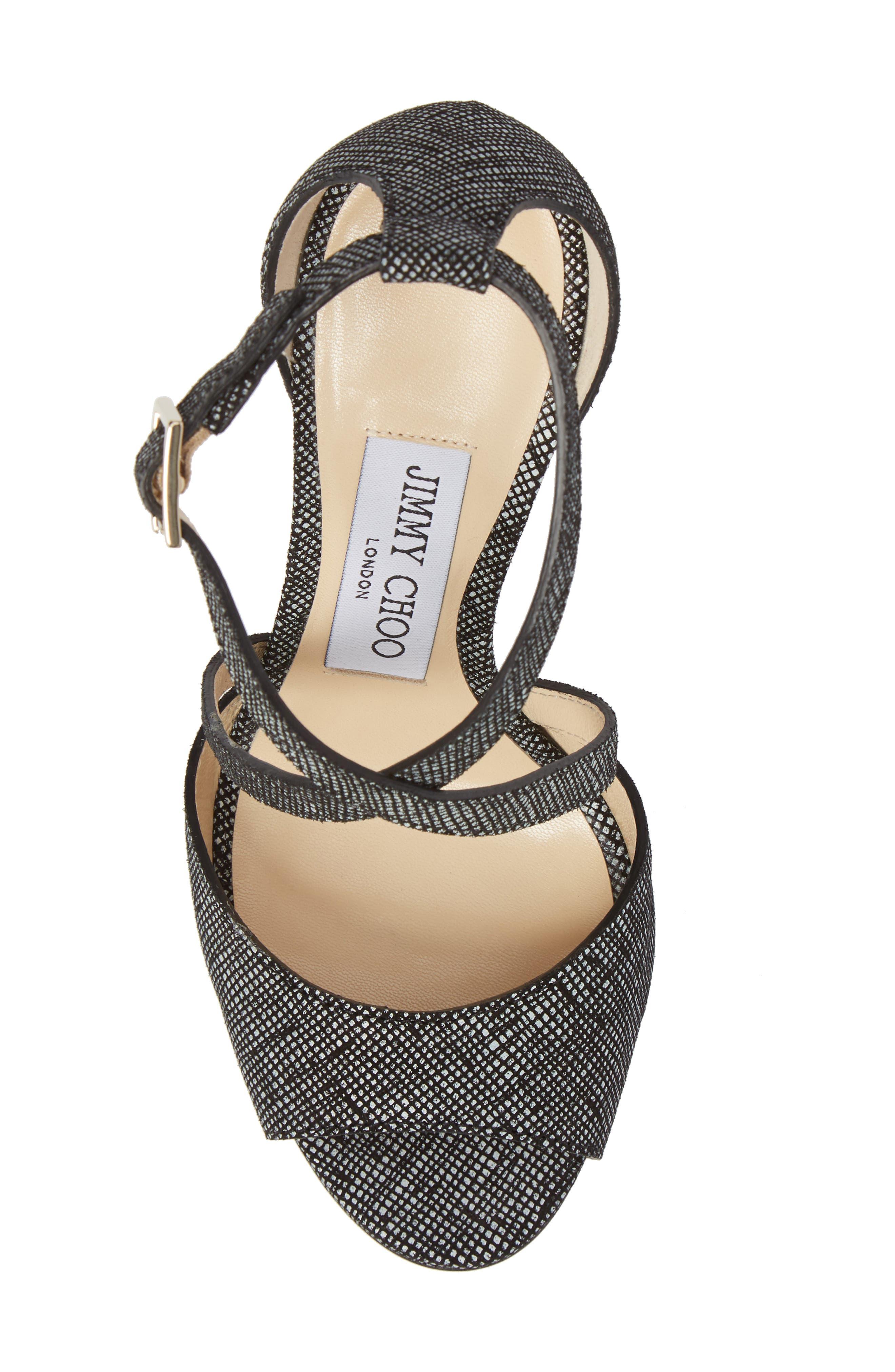Carrie Cross Strap Sandal,                             Alternate thumbnail 5, color,                             001