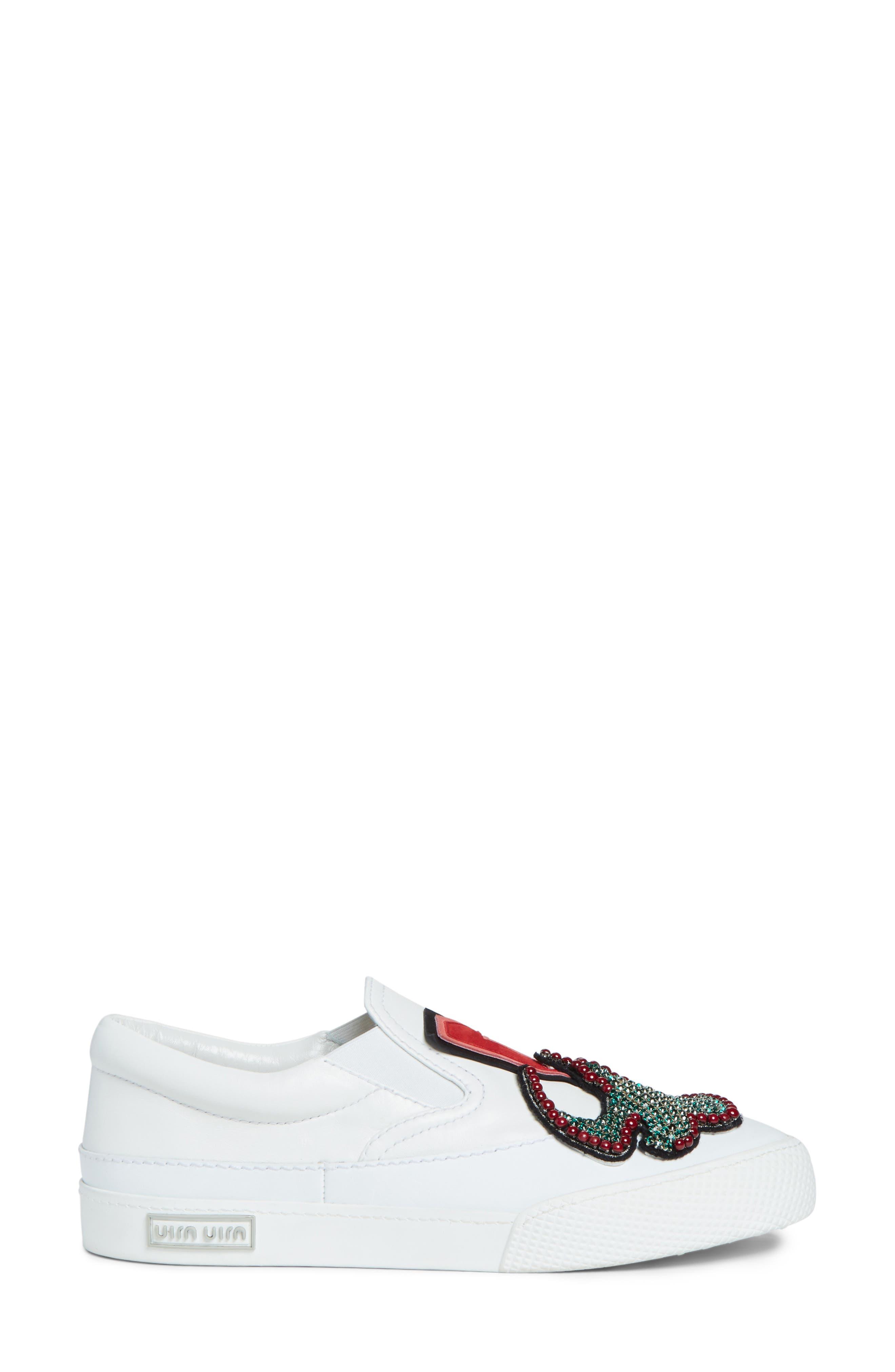 Embellished Slip-On Sneaker,                             Alternate thumbnail 3, color,