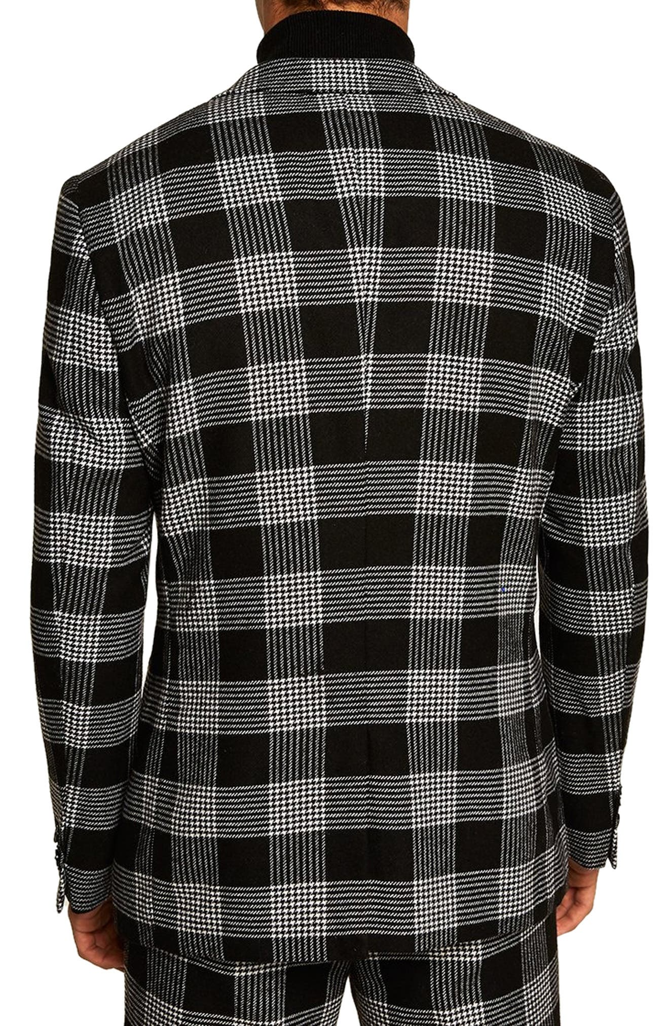 Leigh Classic Check Slim Fit Blazer,                             Alternate thumbnail 2, color,                             BLACK MULTI