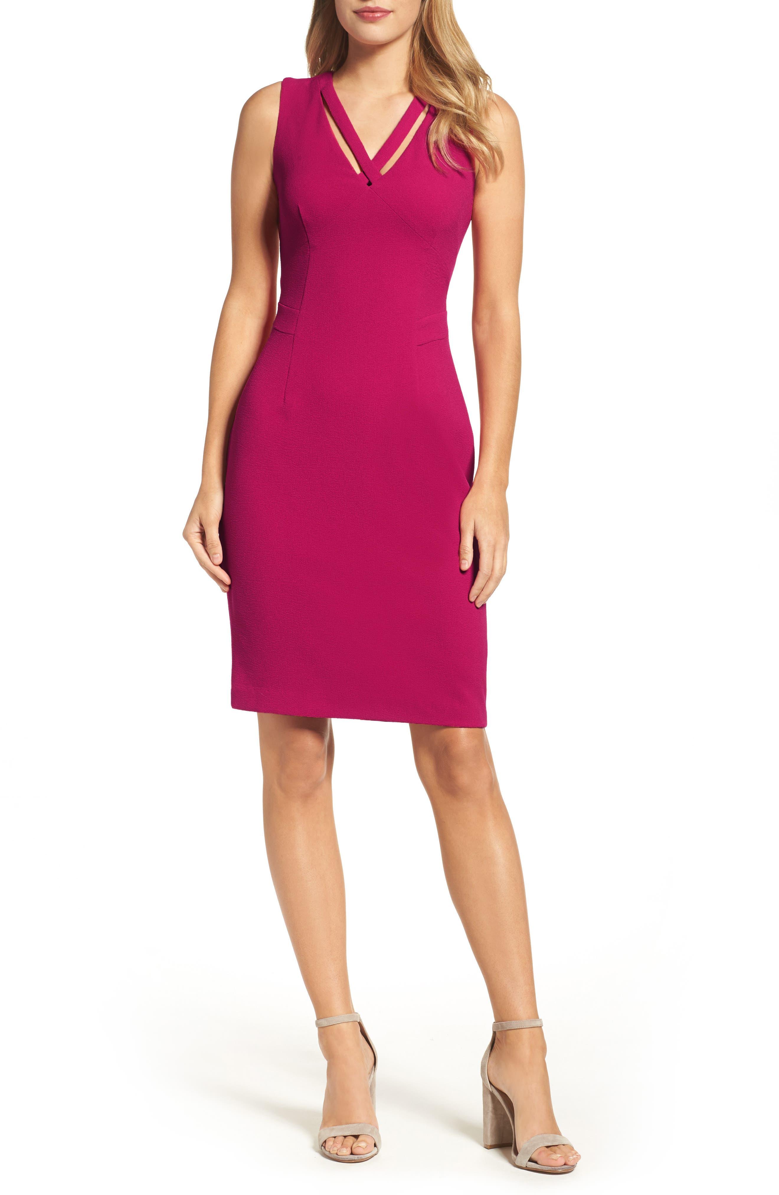Seamed Sheath Dress,                             Main thumbnail 1, color,