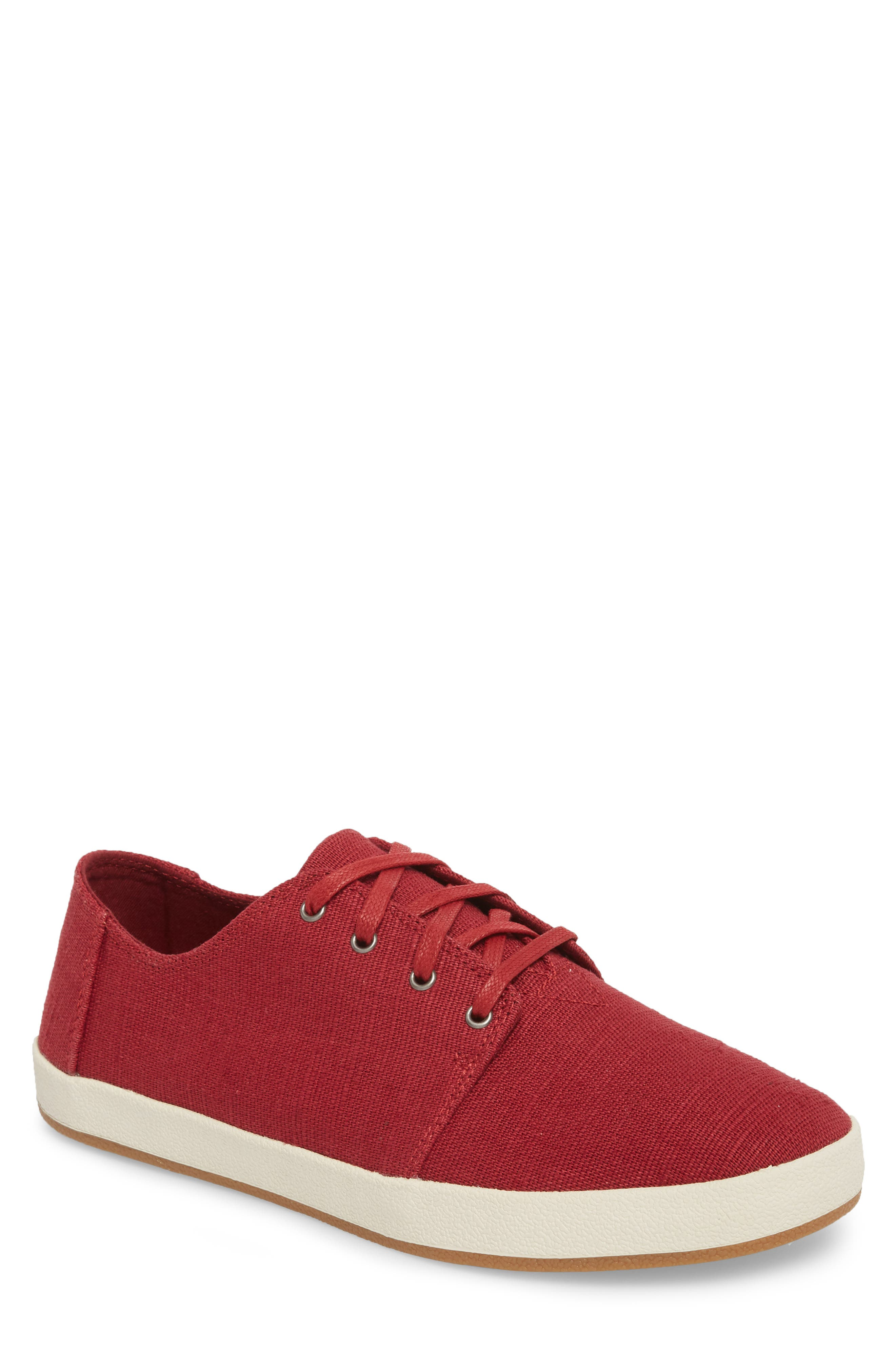Payton Sneaker,                             Main thumbnail 1, color,                             HENNA RED HERITAGE CANVAS