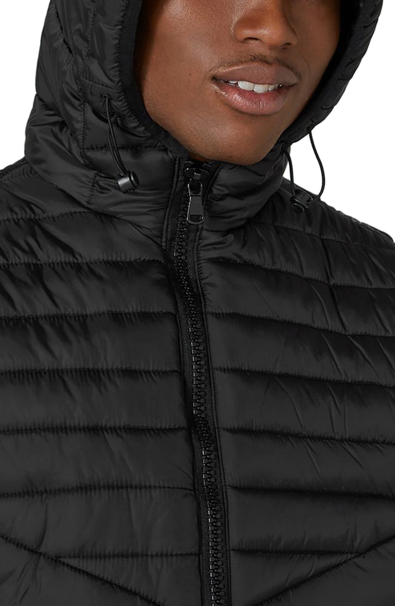 Quilted Puffer Vest,                             Alternate thumbnail 3, color,                             001