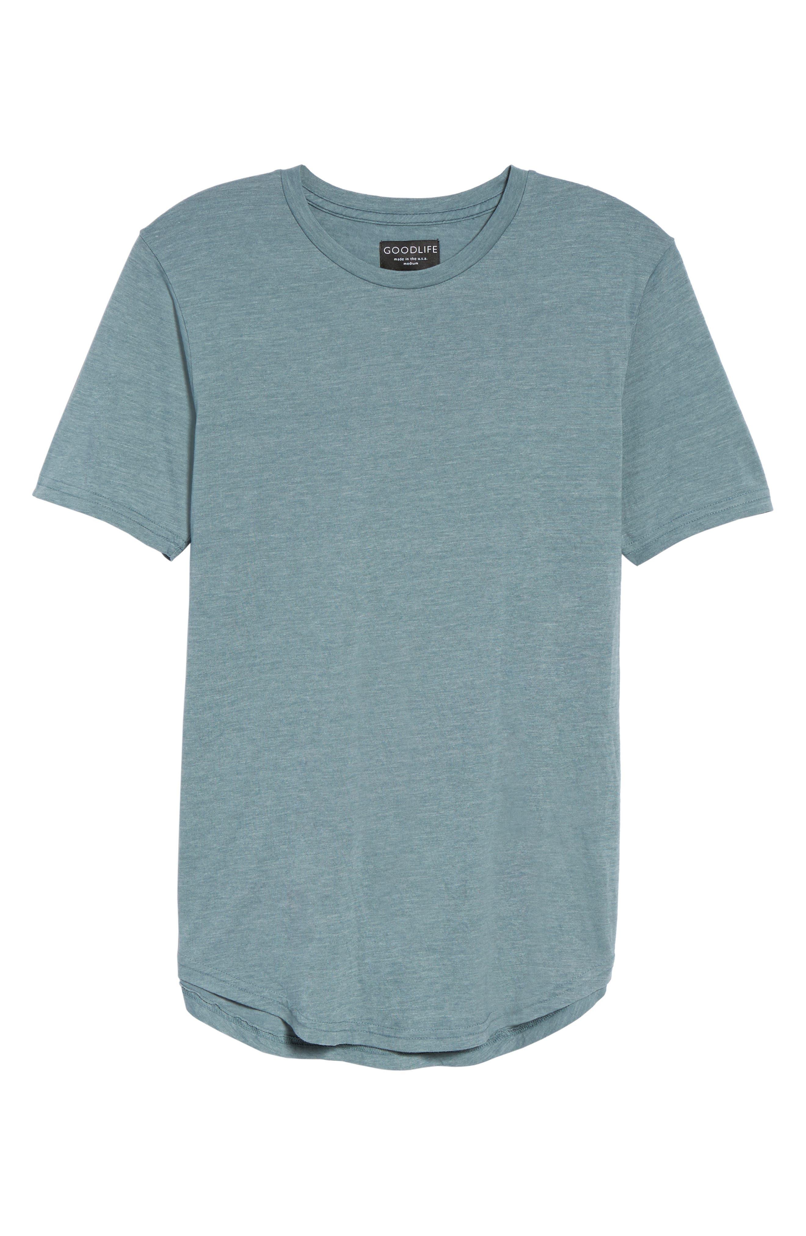 Scallop Triblend Crewneck T-Shirt,                             Alternate thumbnail 134, color,