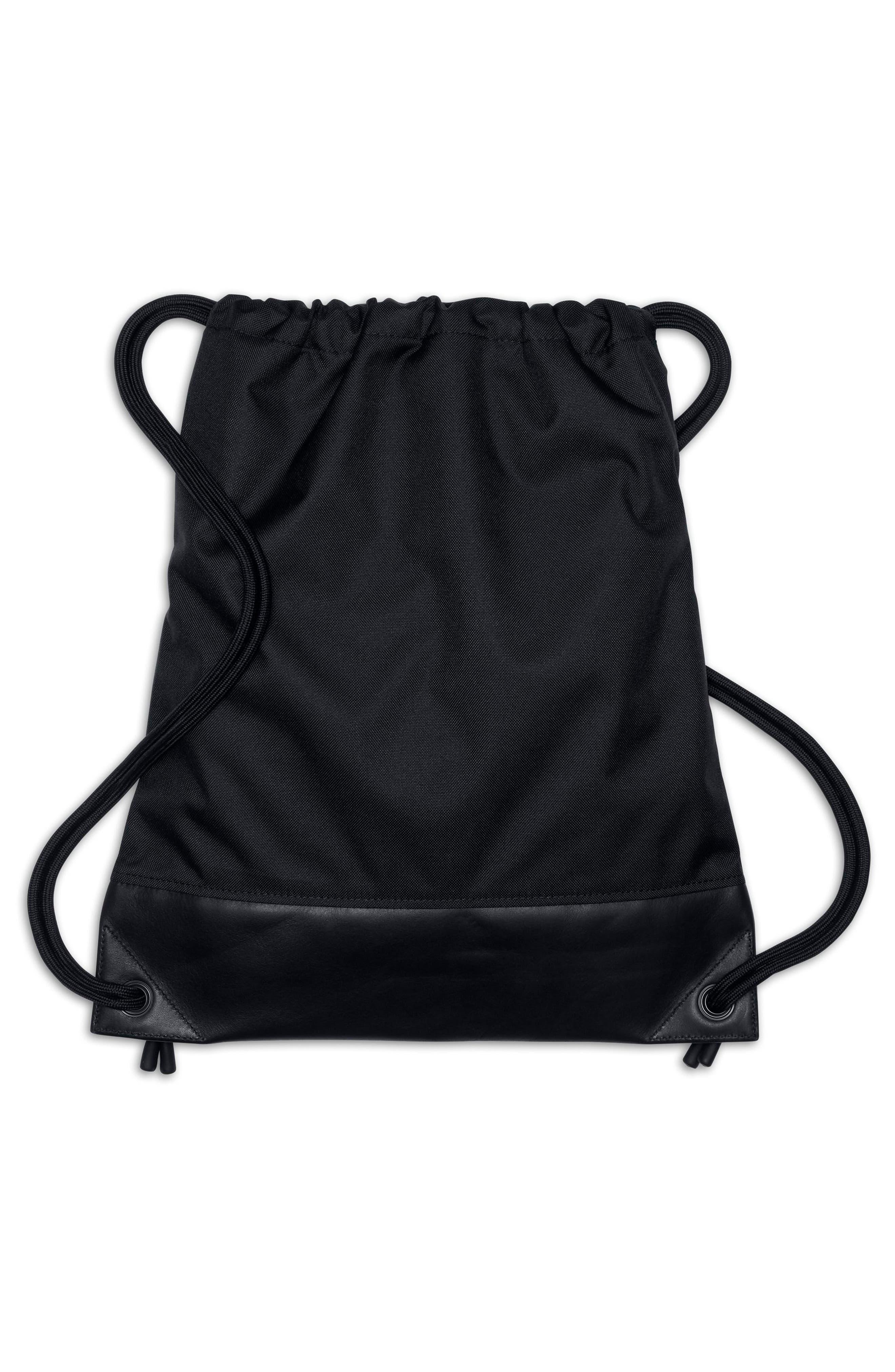 NikeLab Gym Sack,                             Alternate thumbnail 3, color,                             BLACK/ BLACK/ BLACK