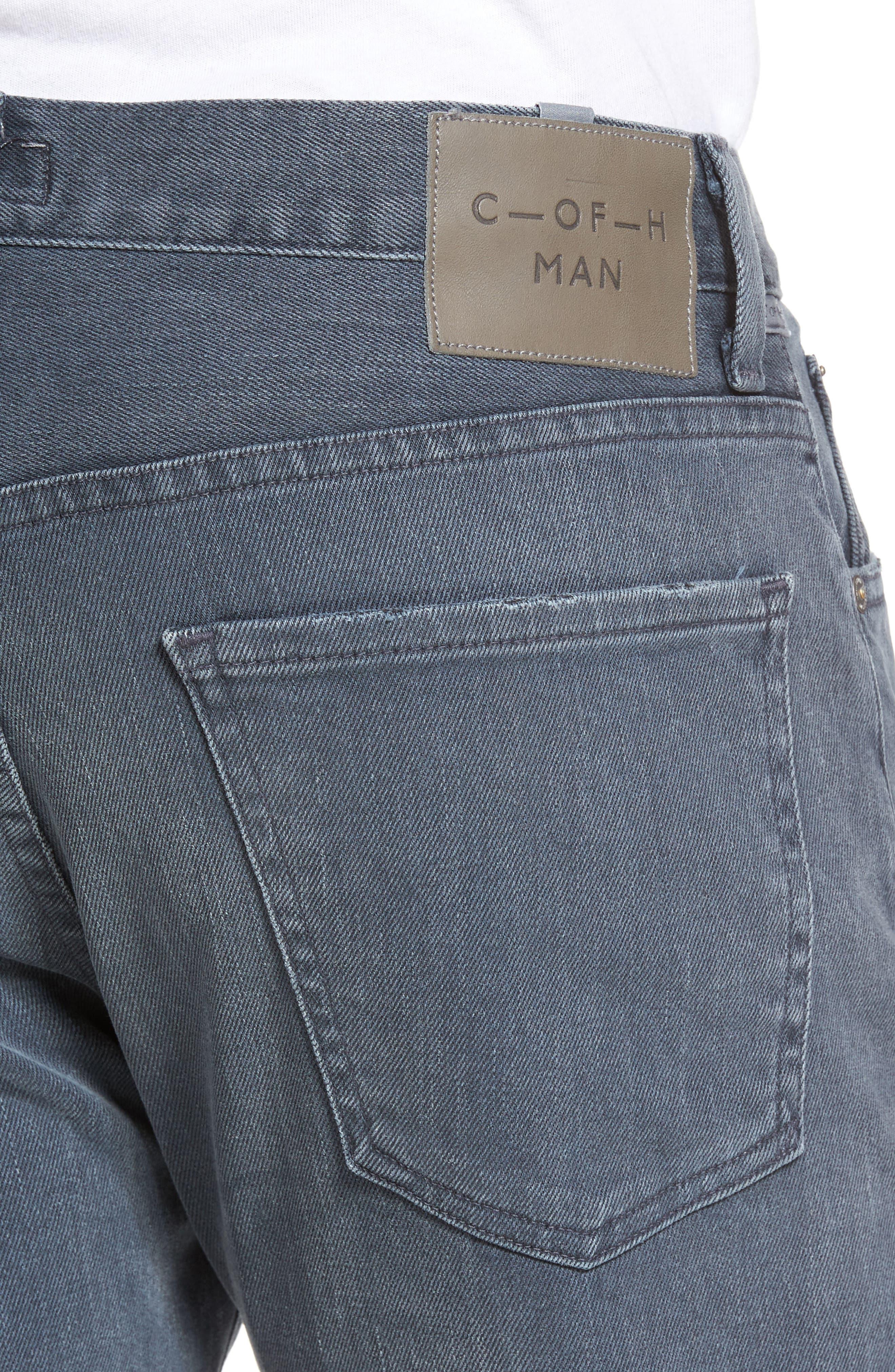 Core Slim Fit Jeans,                             Alternate thumbnail 4, color,                             GREY SKIES