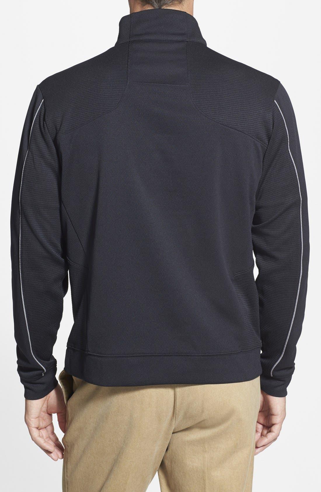 Oakland Raiders - Edge DryTec Moisture Wicking Half Zip Pullover,                             Alternate thumbnail 2, color,                             001
