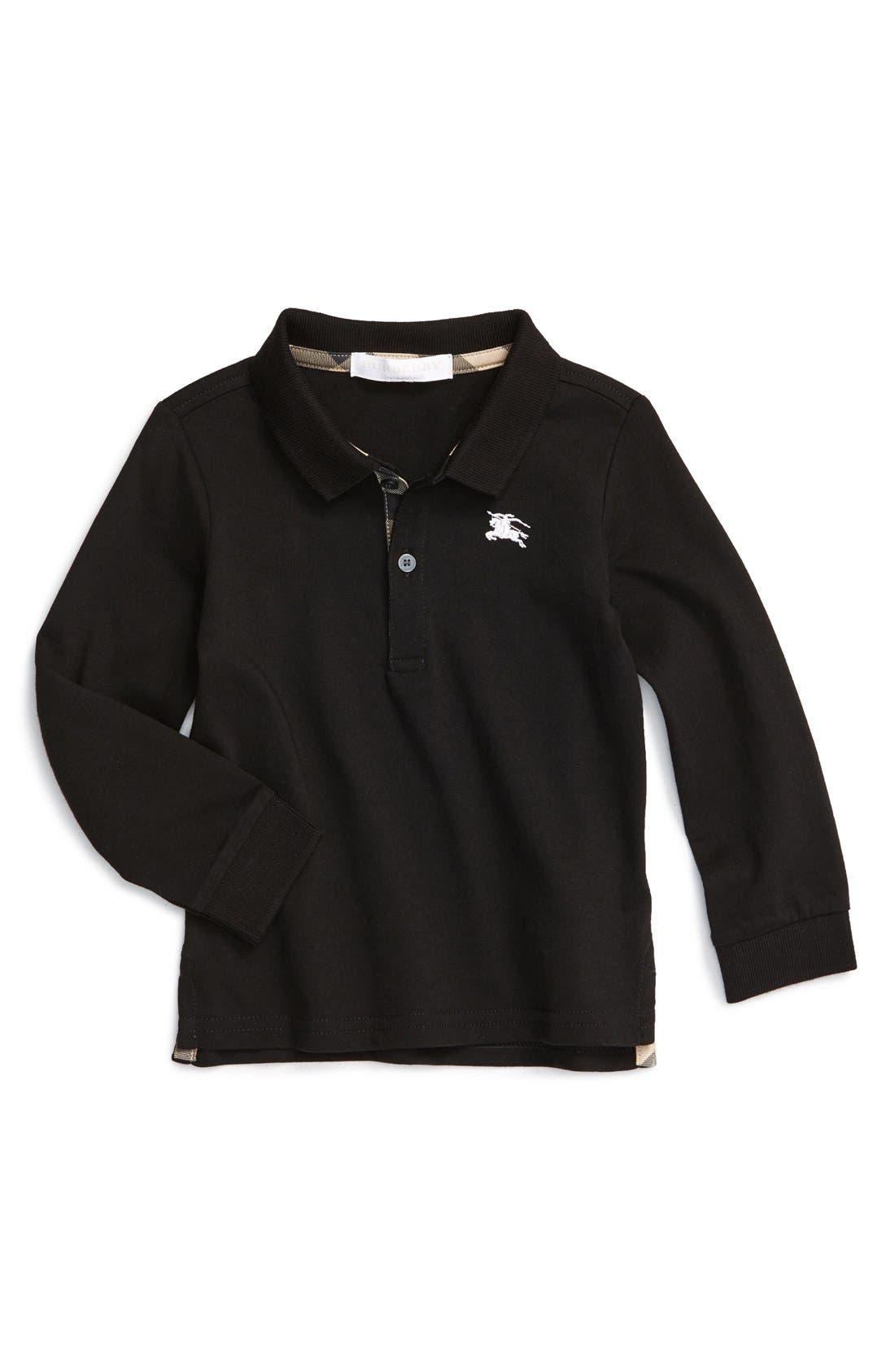 'Palmer' Long Sleeve Polo,                         Main,                         color, 001