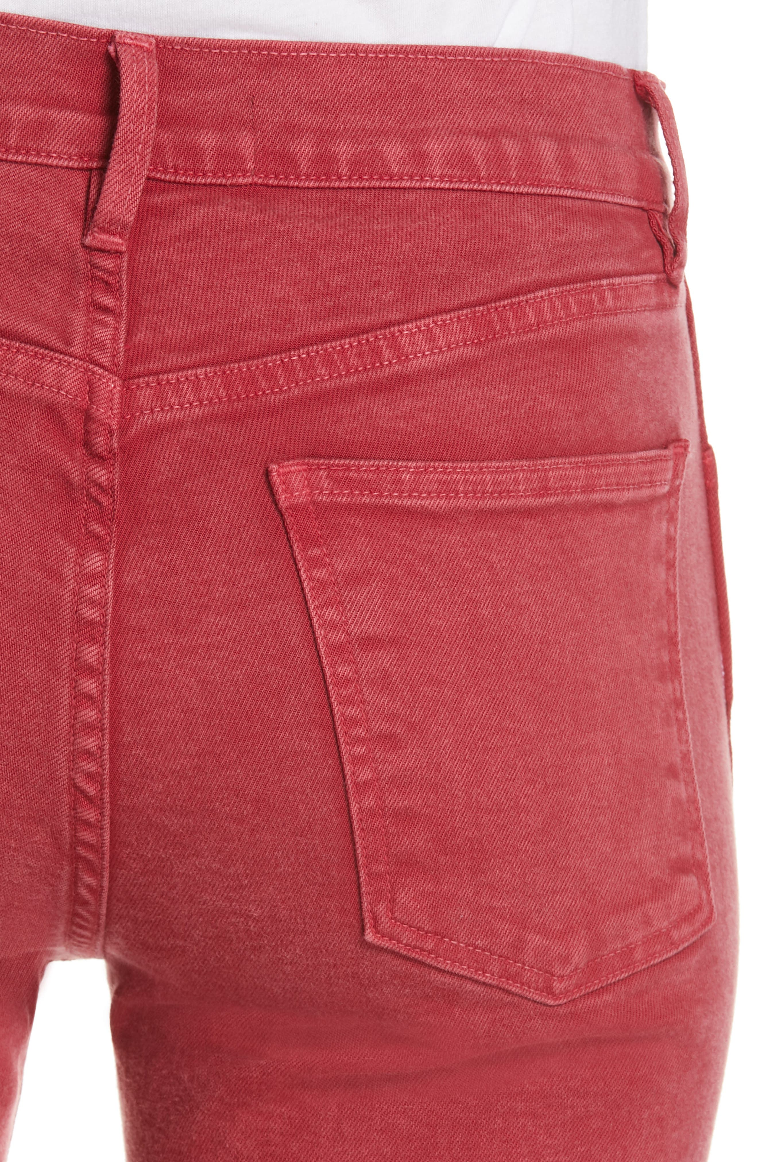 3X1 NYC,                             Stevie Straight Leg Jeans,                             Alternate thumbnail 4, color,                             MINERAL RUST RED