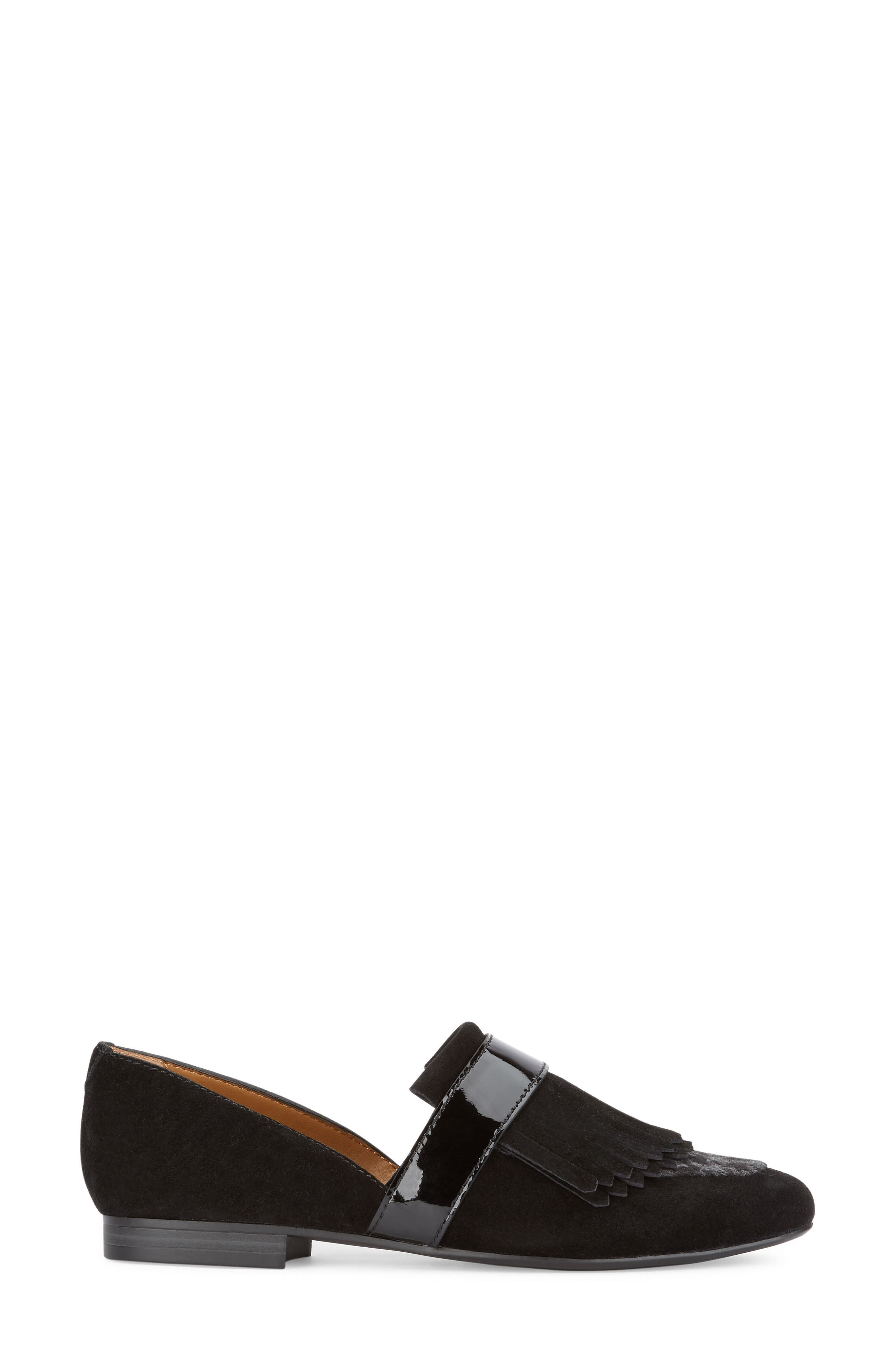 'Harlow' Kiltie Leather Loafer,                             Alternate thumbnail 2, color,                             002
