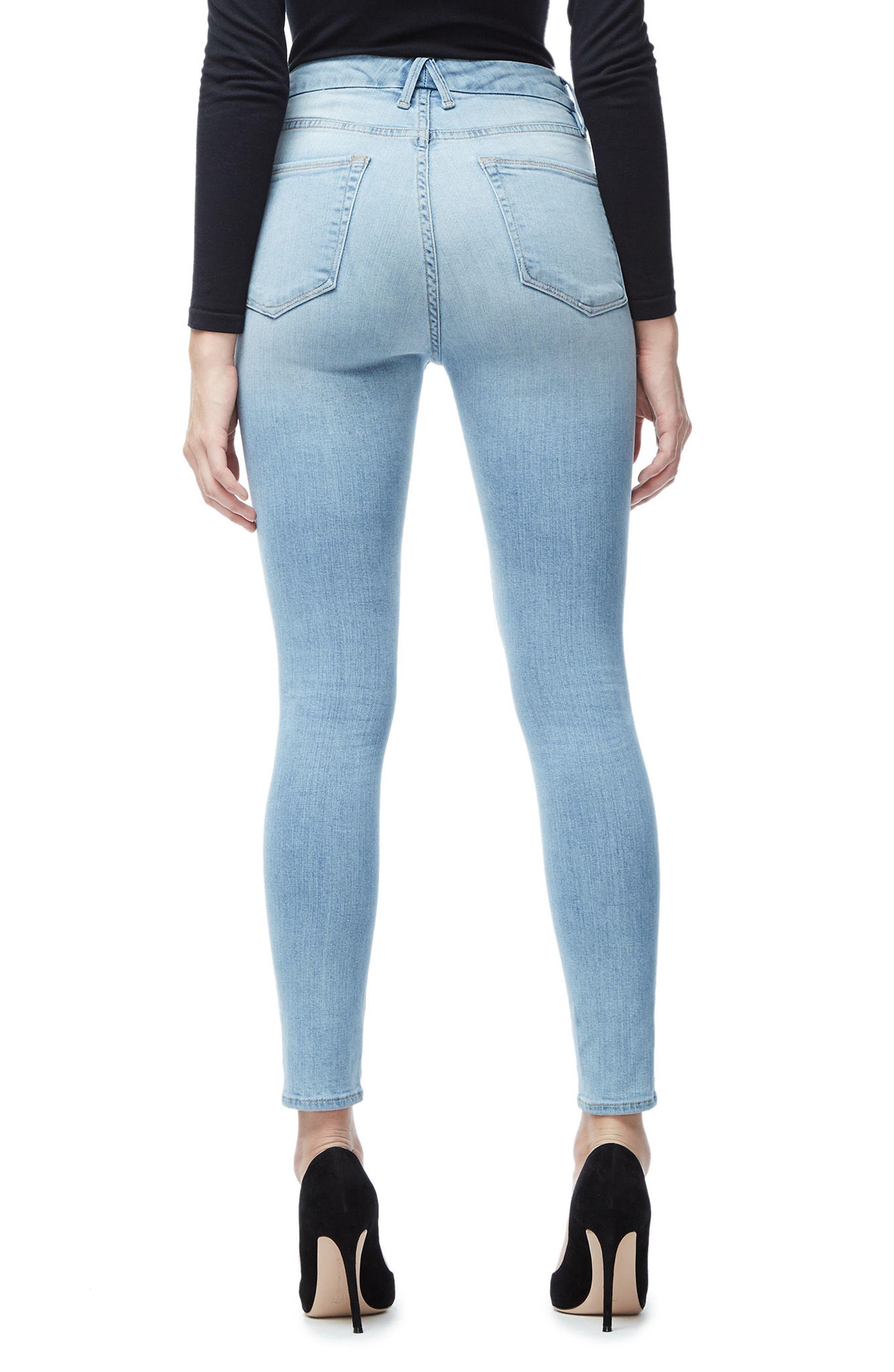 Good Waist High Waist Crop Skinny Jeans,                             Alternate thumbnail 4, color,