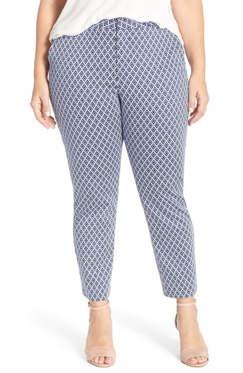6274a456b0a NYDJ  Corynna  Print Stretch Slim Ankle Pants (Plus Size)