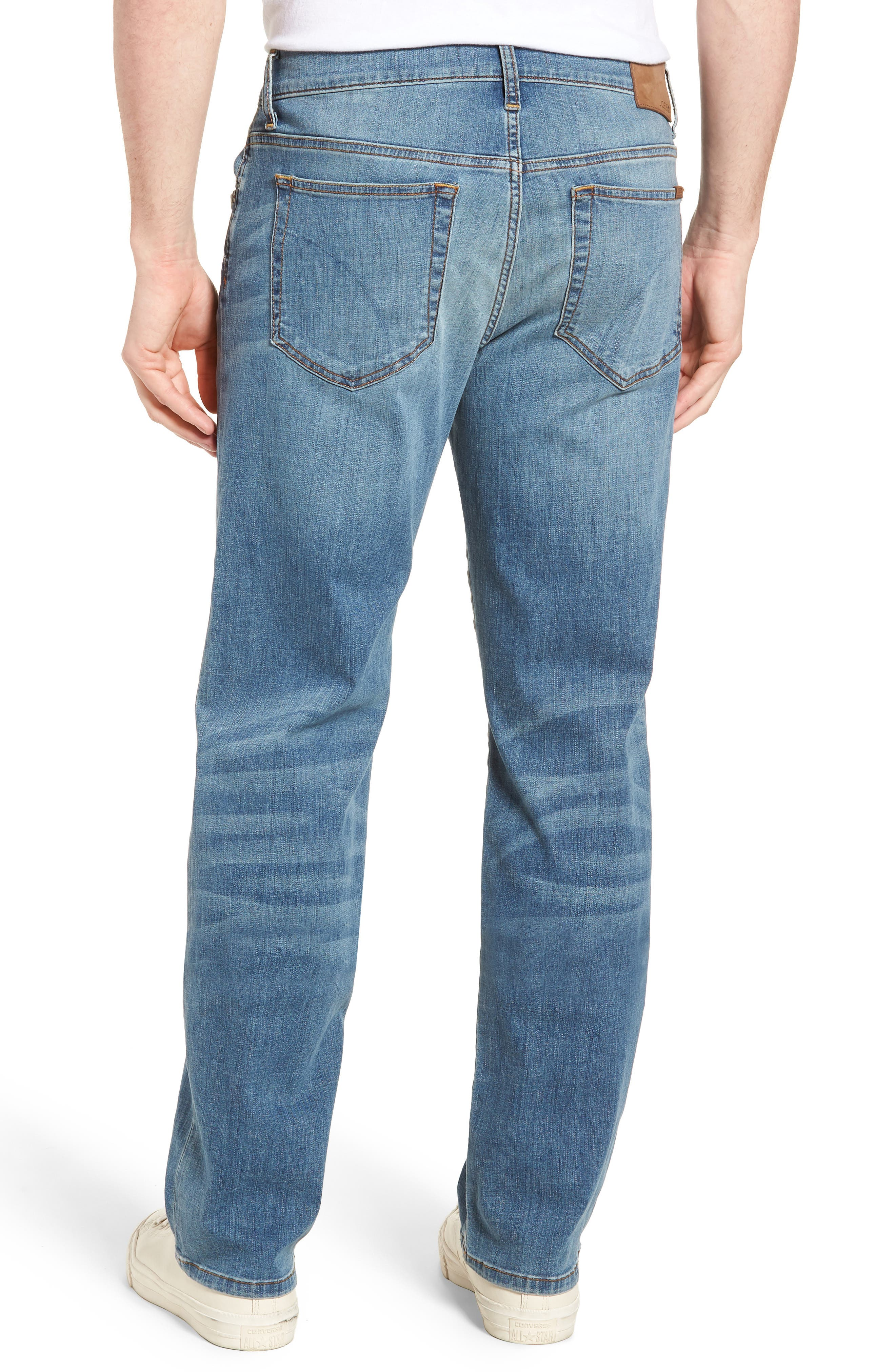 Classic Straight Fit Jeans,                             Alternate thumbnail 2, color,                             REDDING