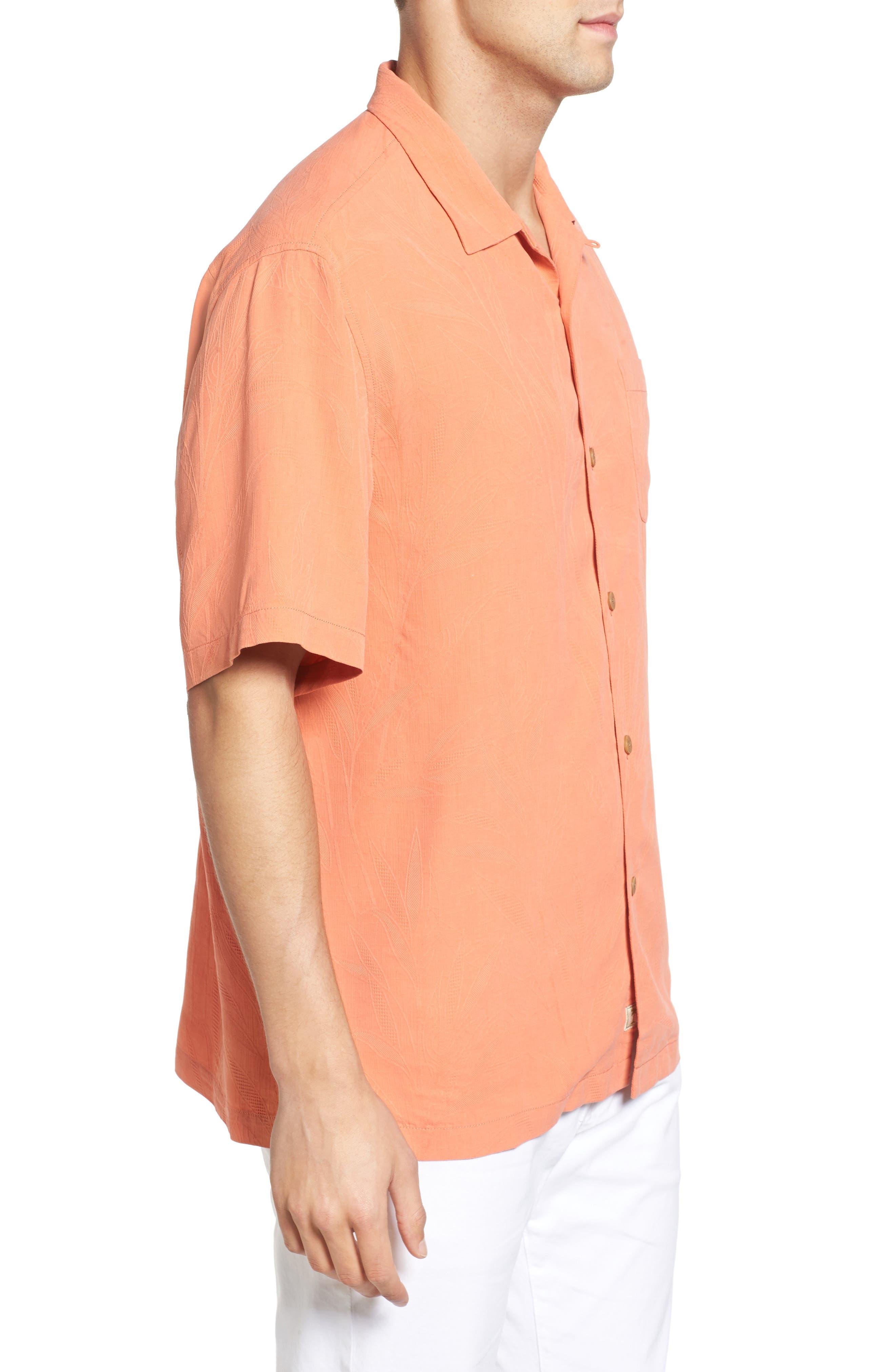 Islander Fronds Silk Camp Shirt,                             Alternate thumbnail 27, color,