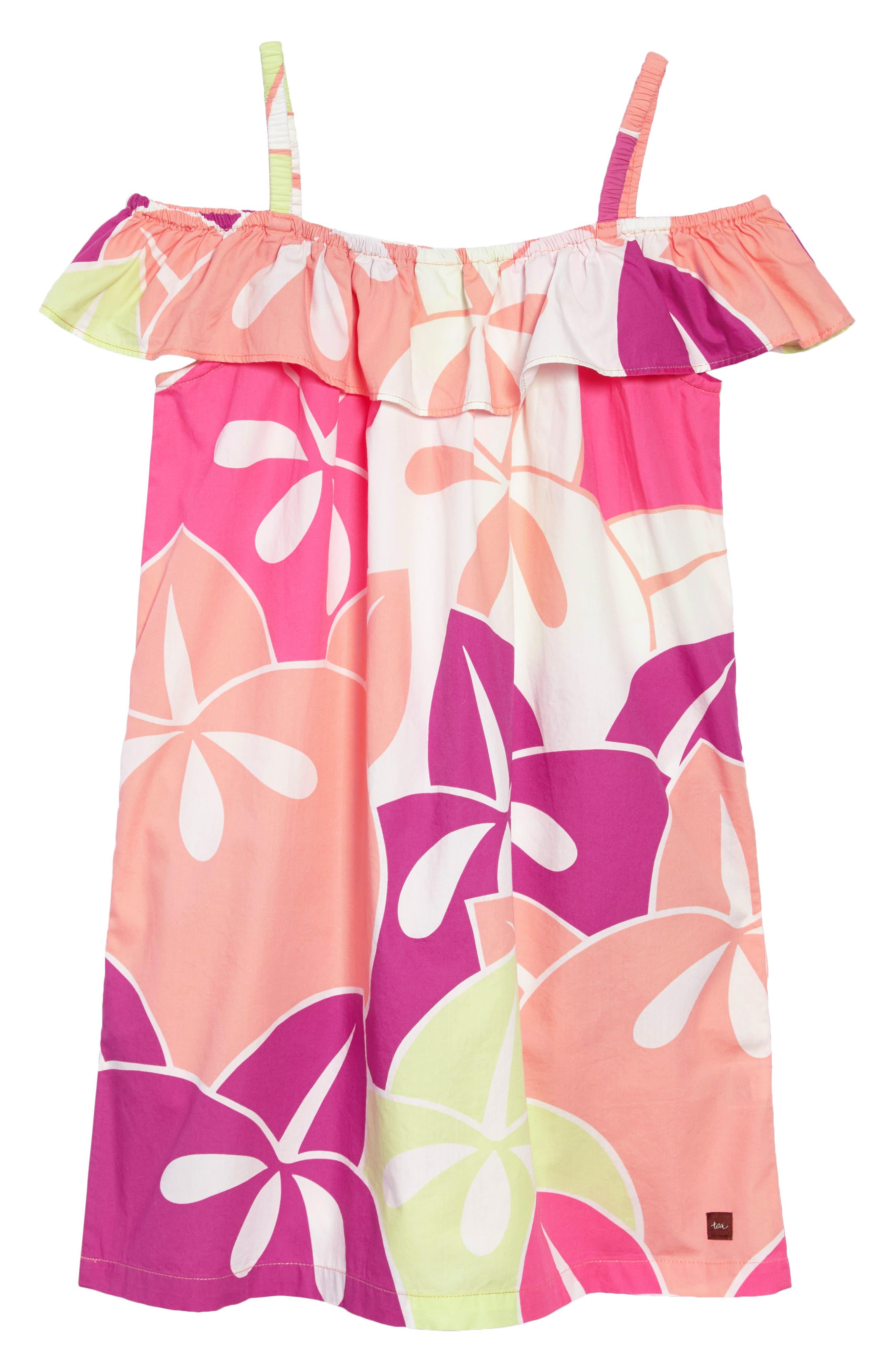 Ruffle Neck Dress,                             Alternate thumbnail 4, color,