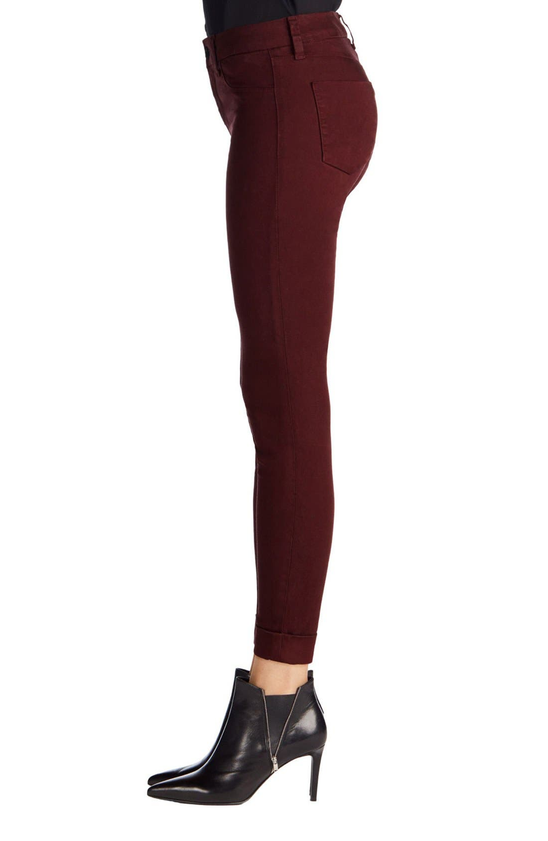 'Anja' Cuffed Crop Skinny Jeans,                             Alternate thumbnail 27, color,