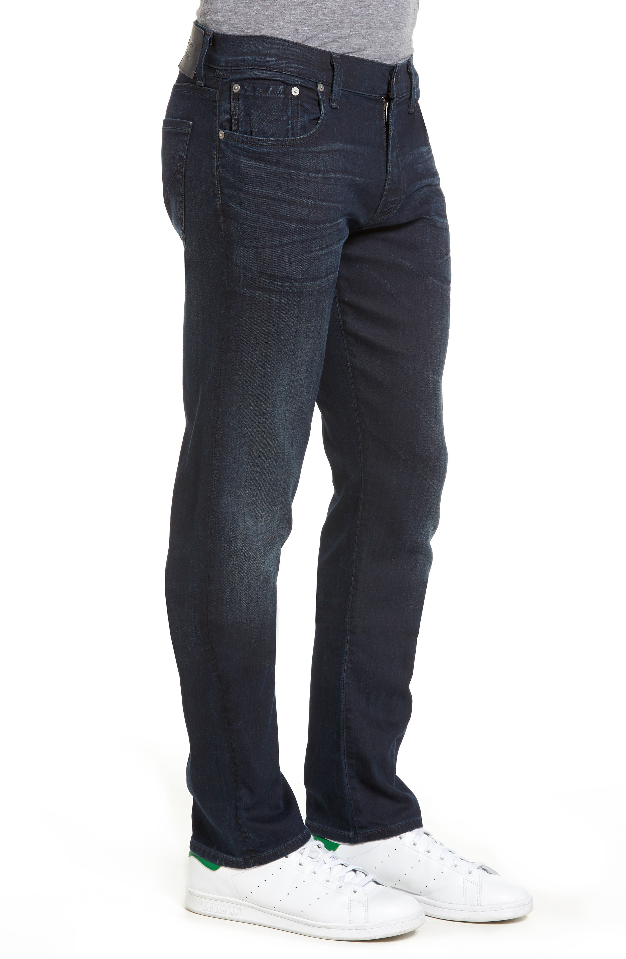 Core Slim Straight Leg Jeans,                             Alternate thumbnail 3, color,                             DURANT