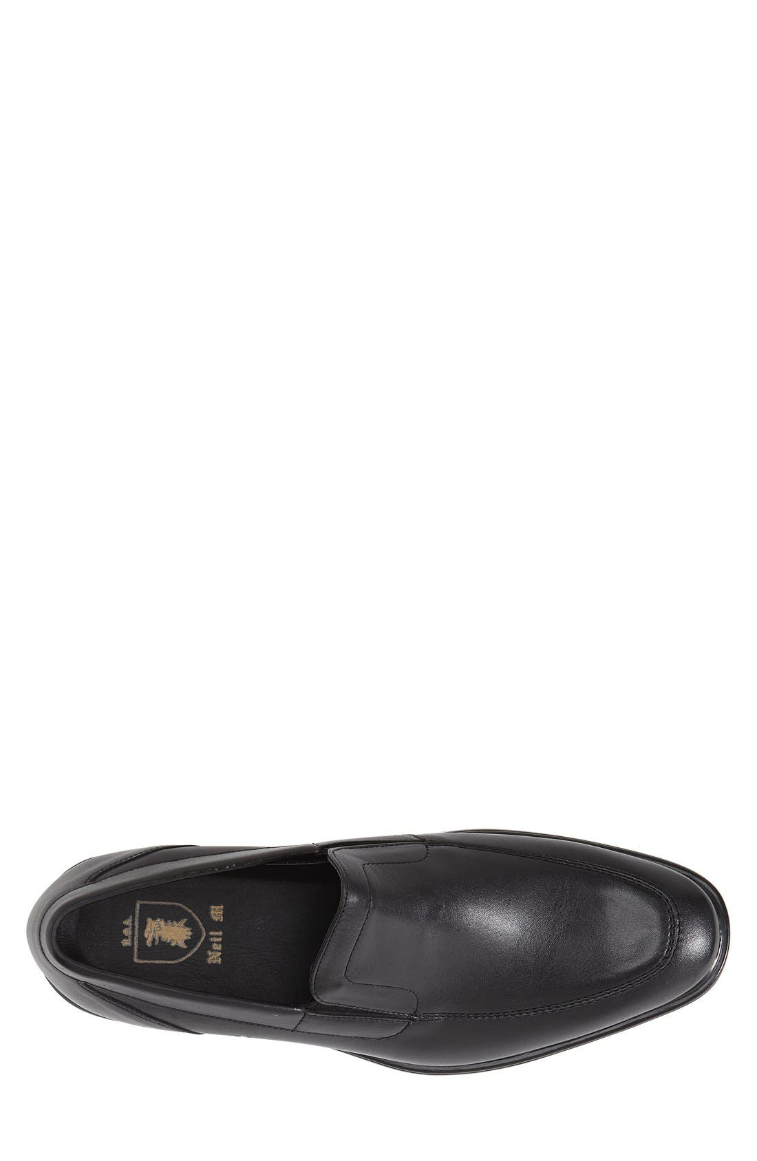 'Chancellor' Venetian Loafer,                             Alternate thumbnail 3, color,                             BLACK