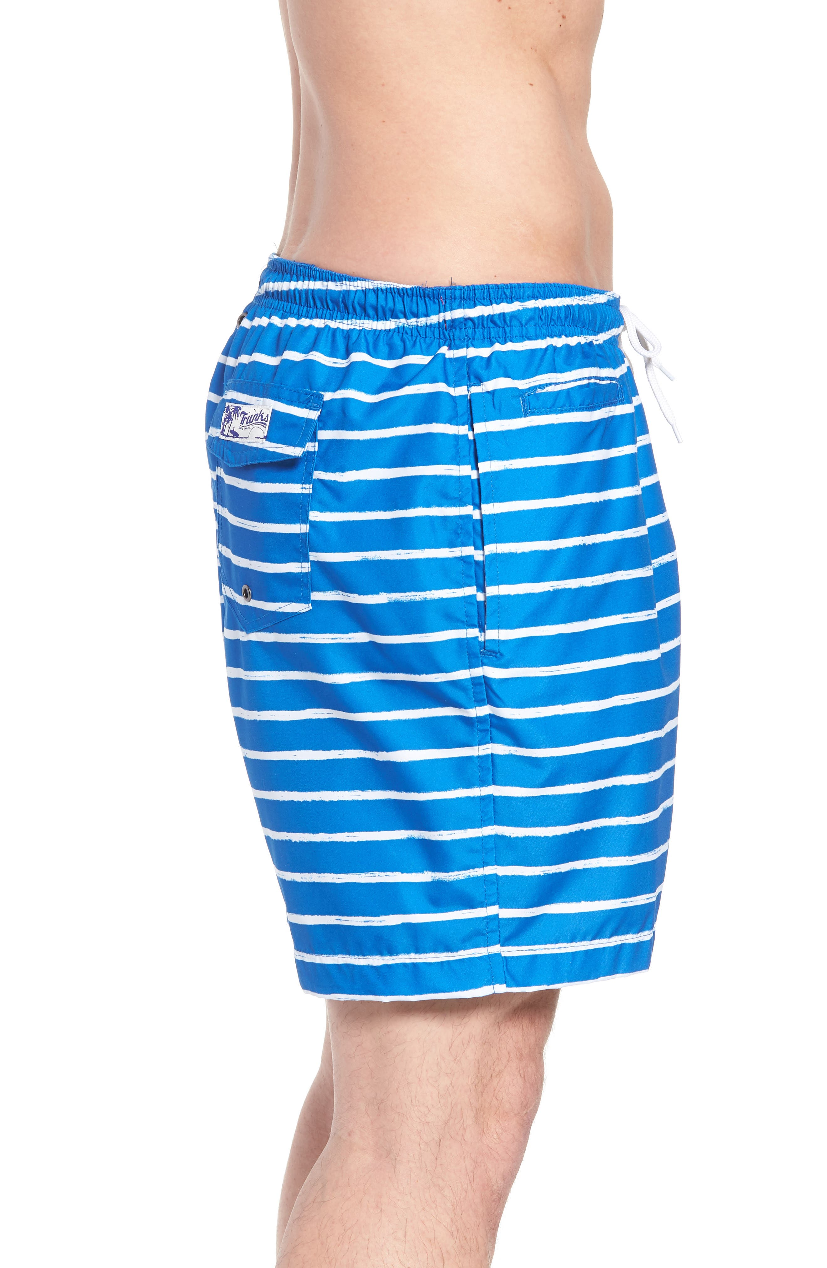 San O Stripe Swim Trunks,                             Alternate thumbnail 3, color,                             416