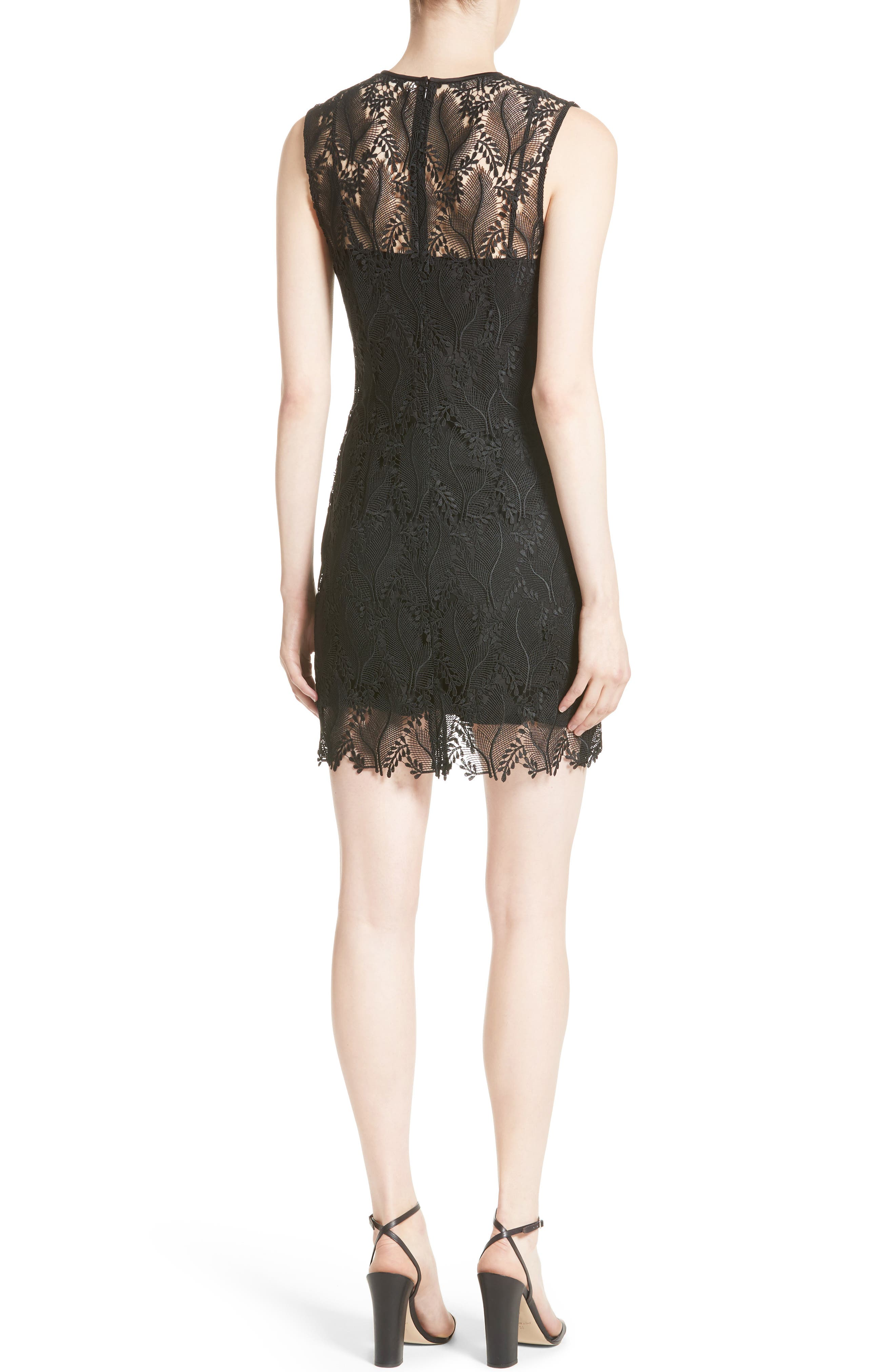 Lace Overlay Mindress,                             Alternate thumbnail 2, color,                             004