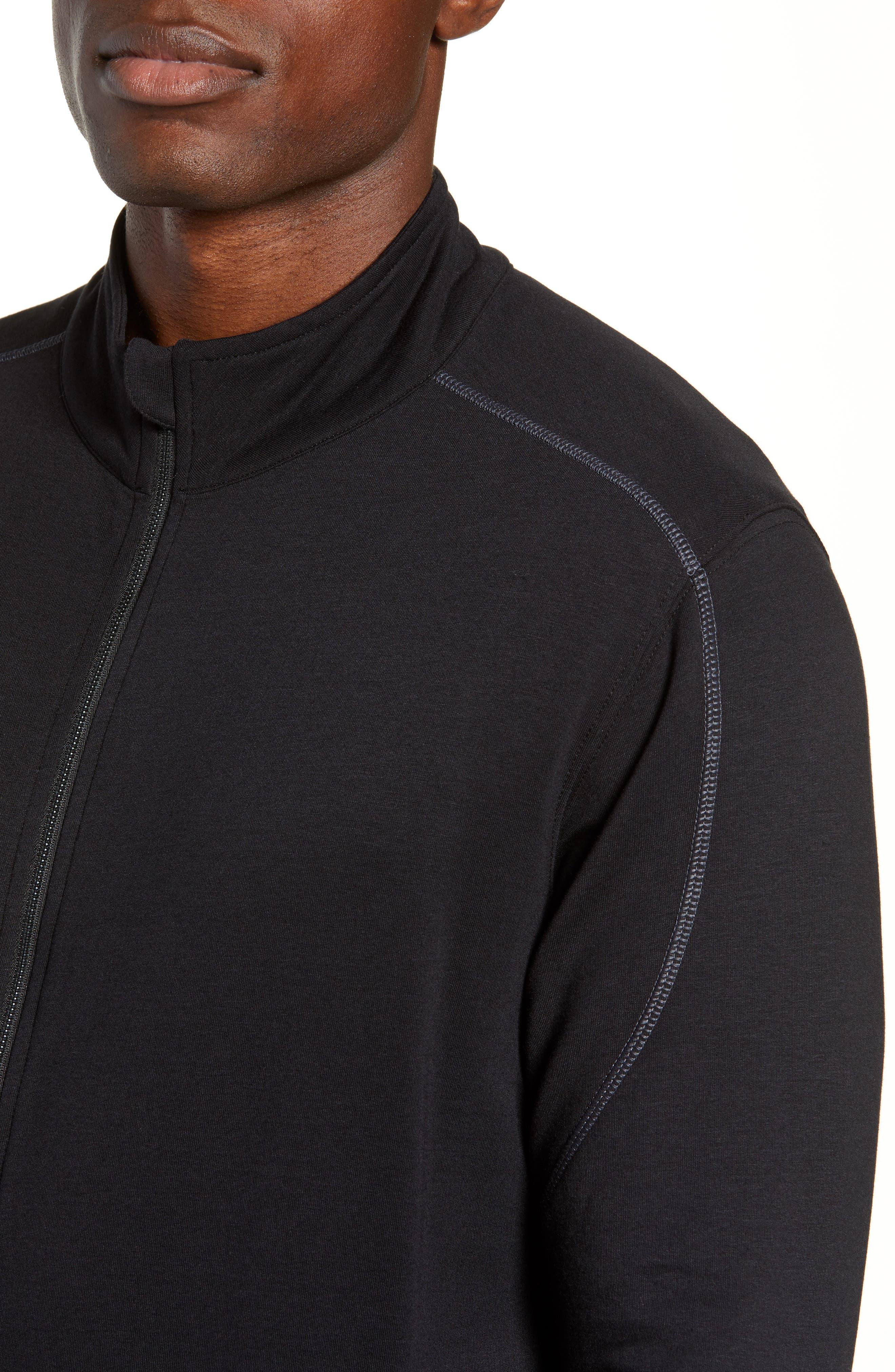 Tahoe II Fleece Jacket,                             Alternate thumbnail 4, color,                             BLACK