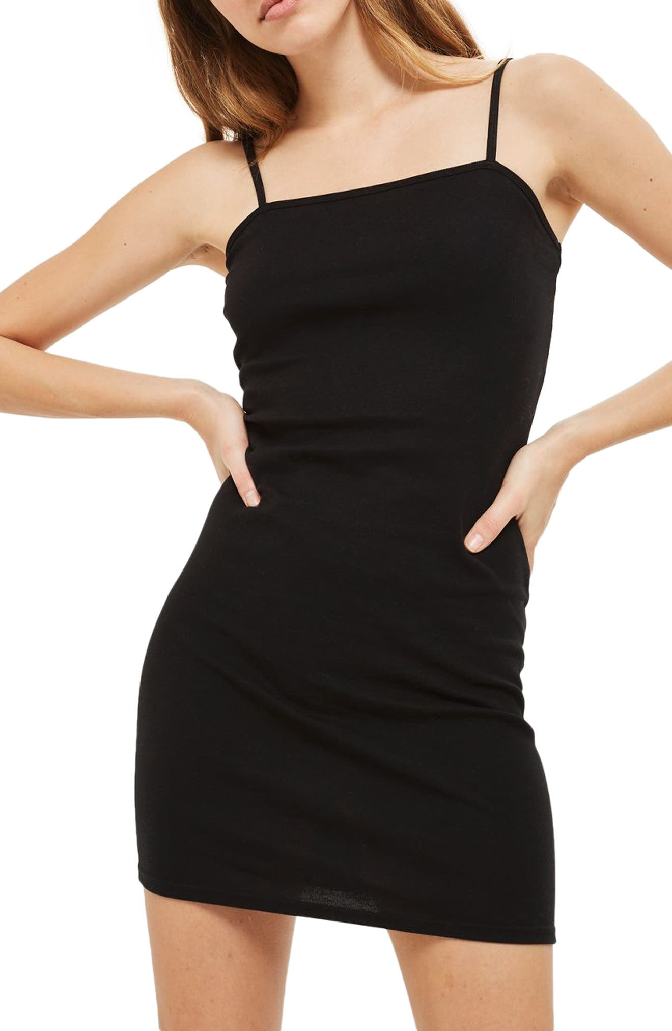 Body-Con Slipdress,                             Alternate thumbnail 3, color,                             001