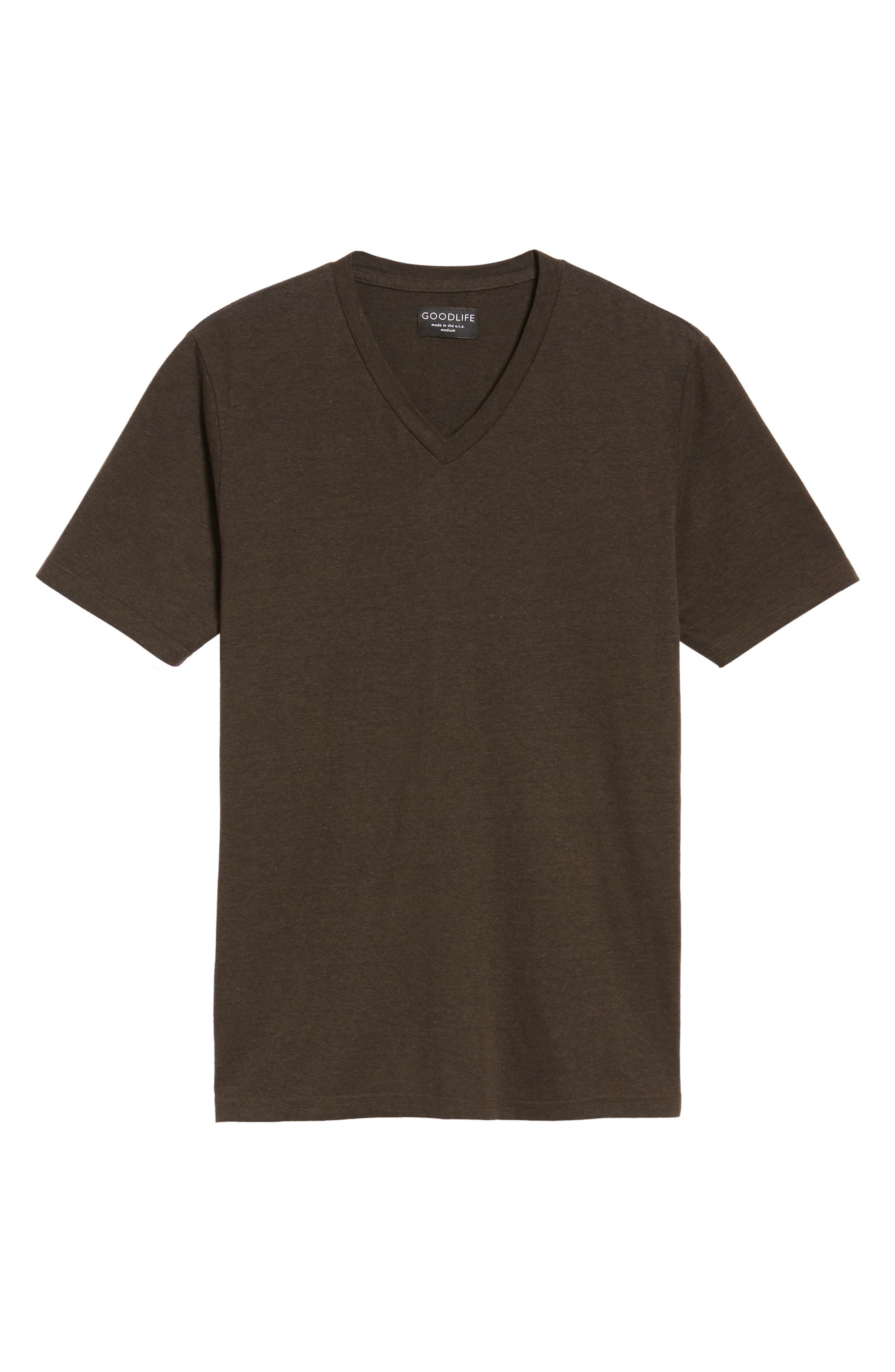 V-Neck Heathered T-Shirt,                             Alternate thumbnail 6, color,                             206