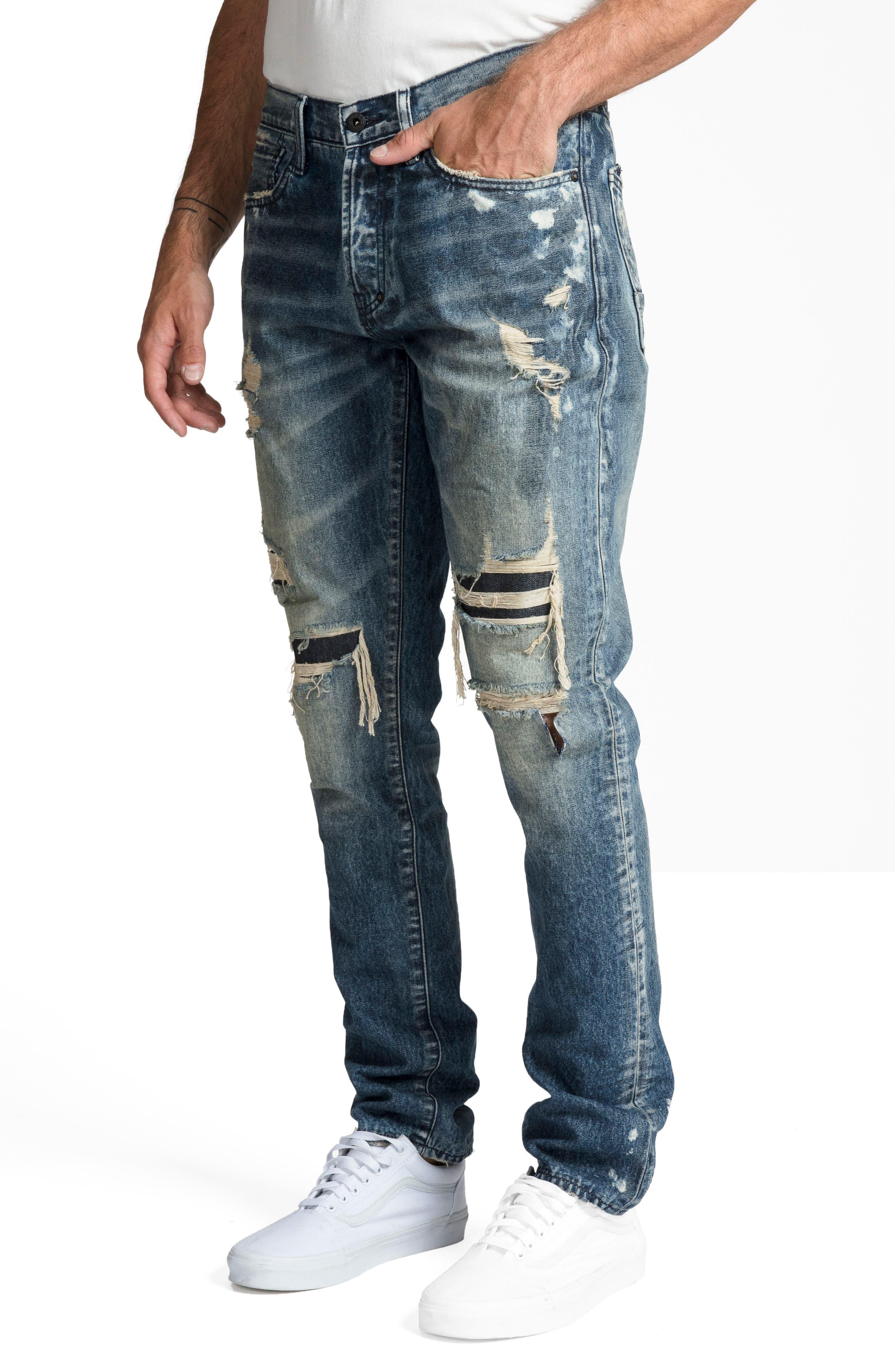Le Sabre Slim Fit Jeans,                             Alternate thumbnail 3, color,                             MELODIC