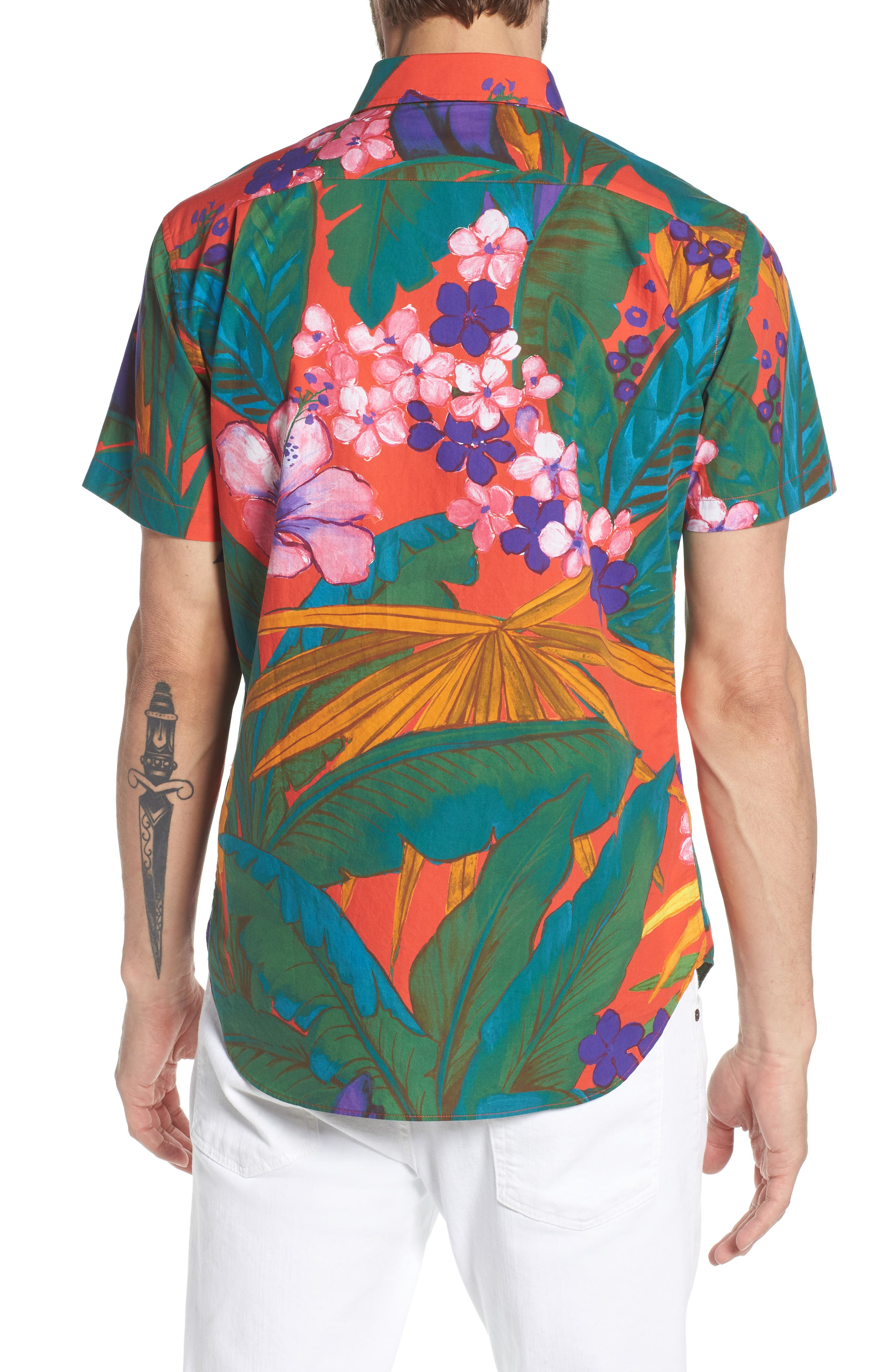 Premium Slim Fit Print Sport Shirt,                             Alternate thumbnail 2, color,                             650