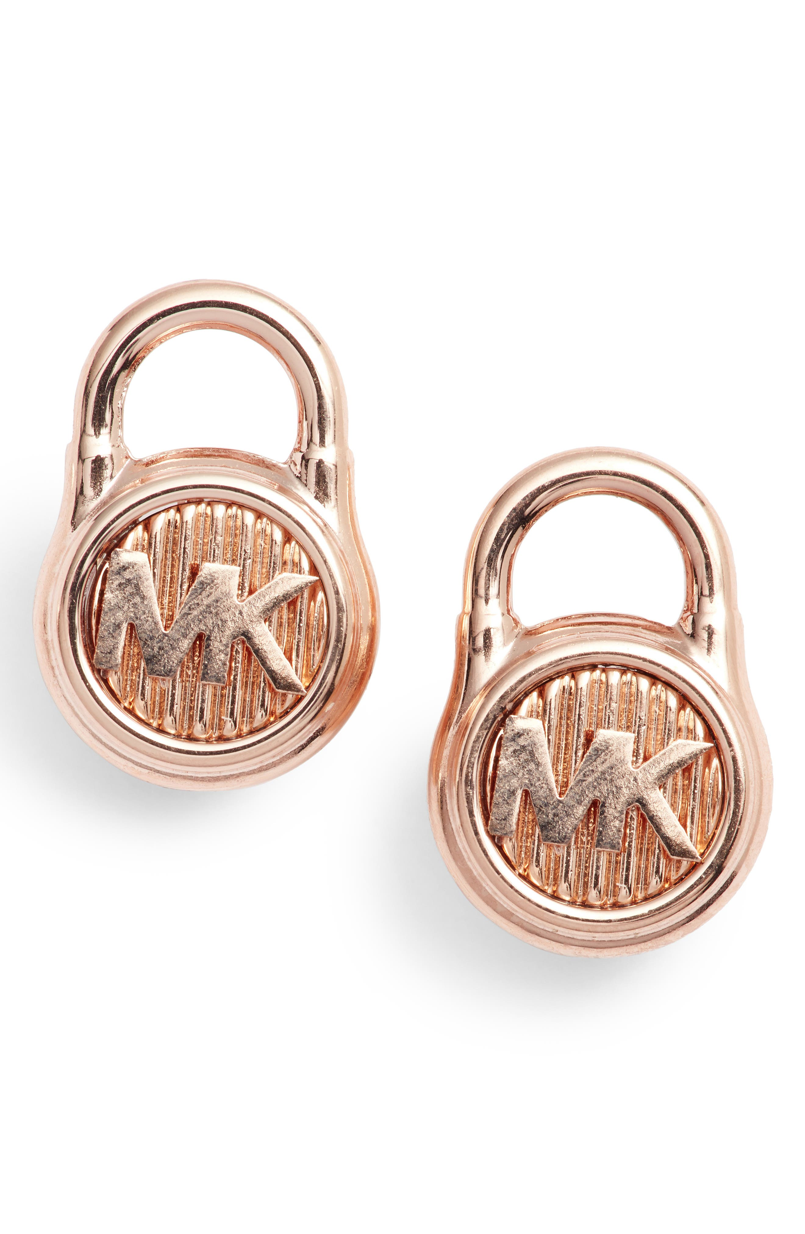 Padlock Stud Earrings,                         Main,                         color, 650