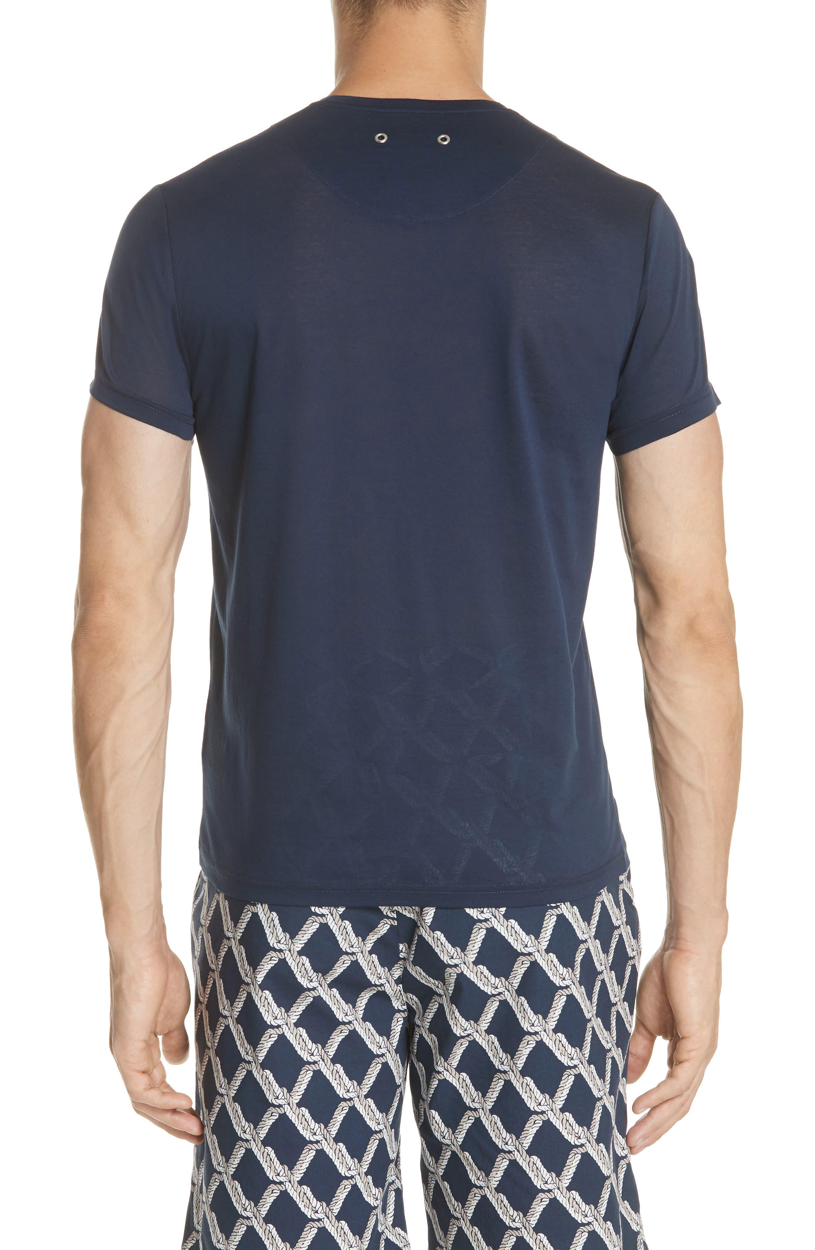 V-Neck T-Shirt,                             Alternate thumbnail 2, color,                             NAVY