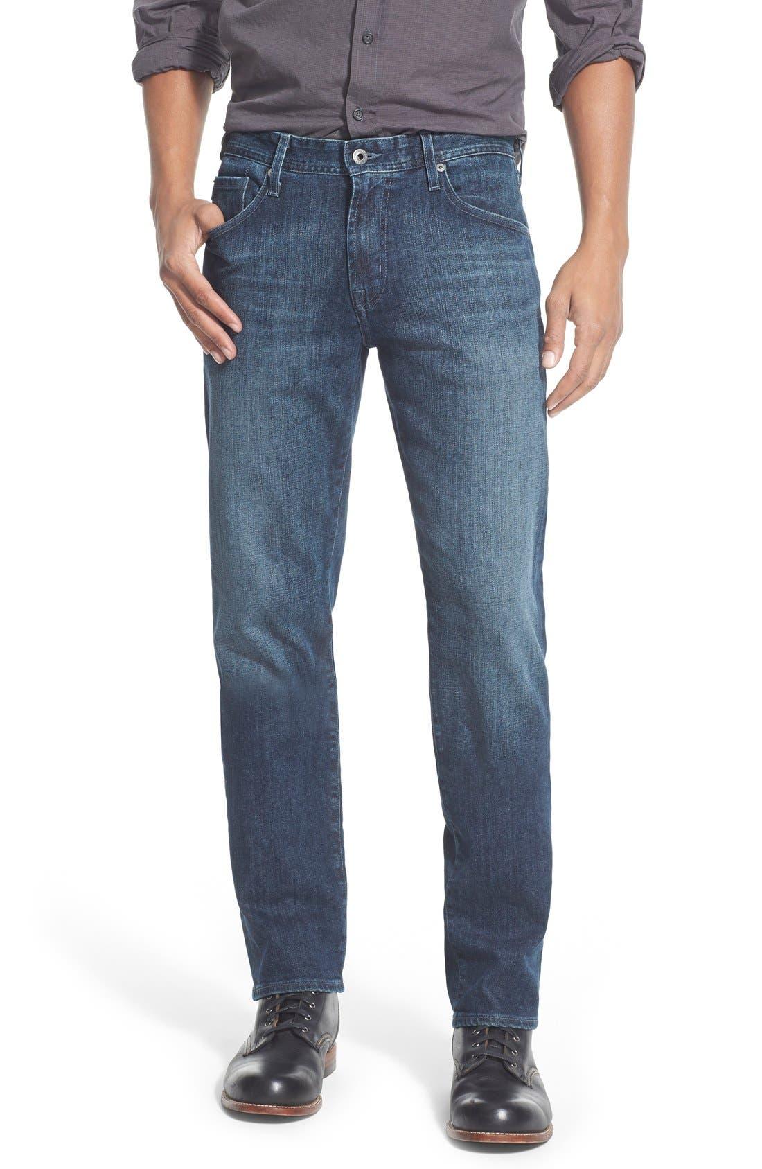 'Graduate' Slim Straight Leg Jeans,                             Main thumbnail 1, color,                             STALLOW