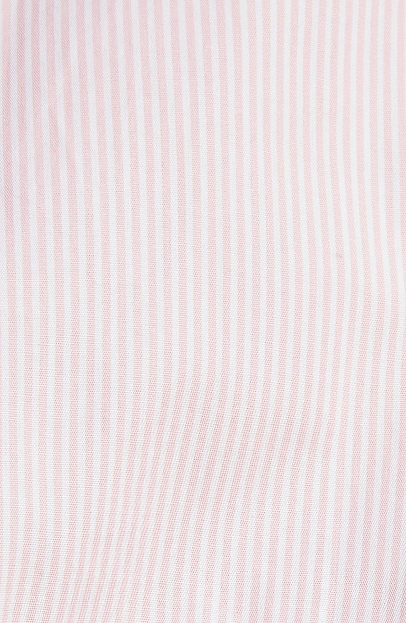 Stripe Frill Shirtdress,                             Alternate thumbnail 6, color,                             650