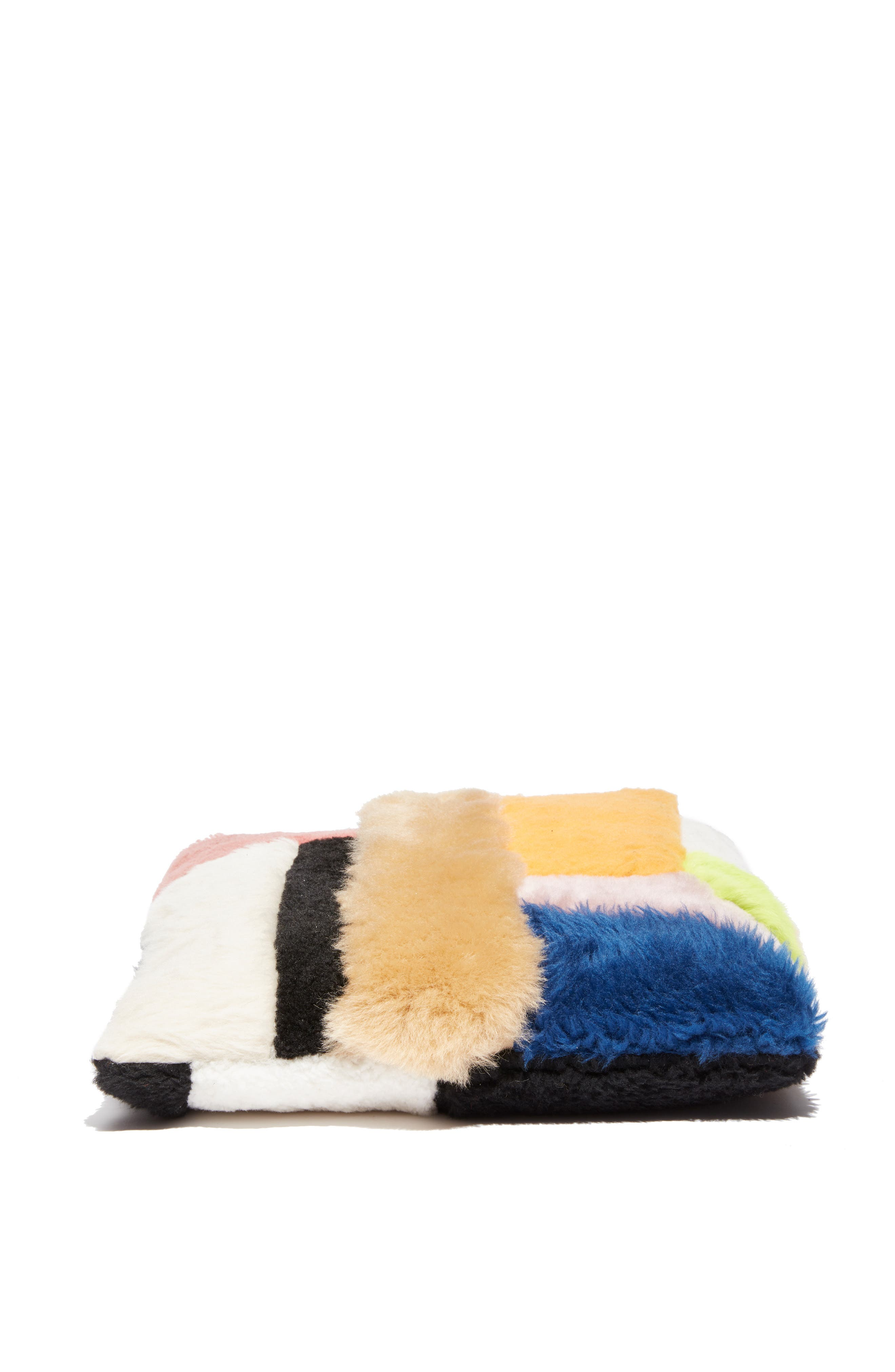 Patchwork Genuine Shearling Tote,                             Alternate thumbnail 6, color,                             MULTI COLOR