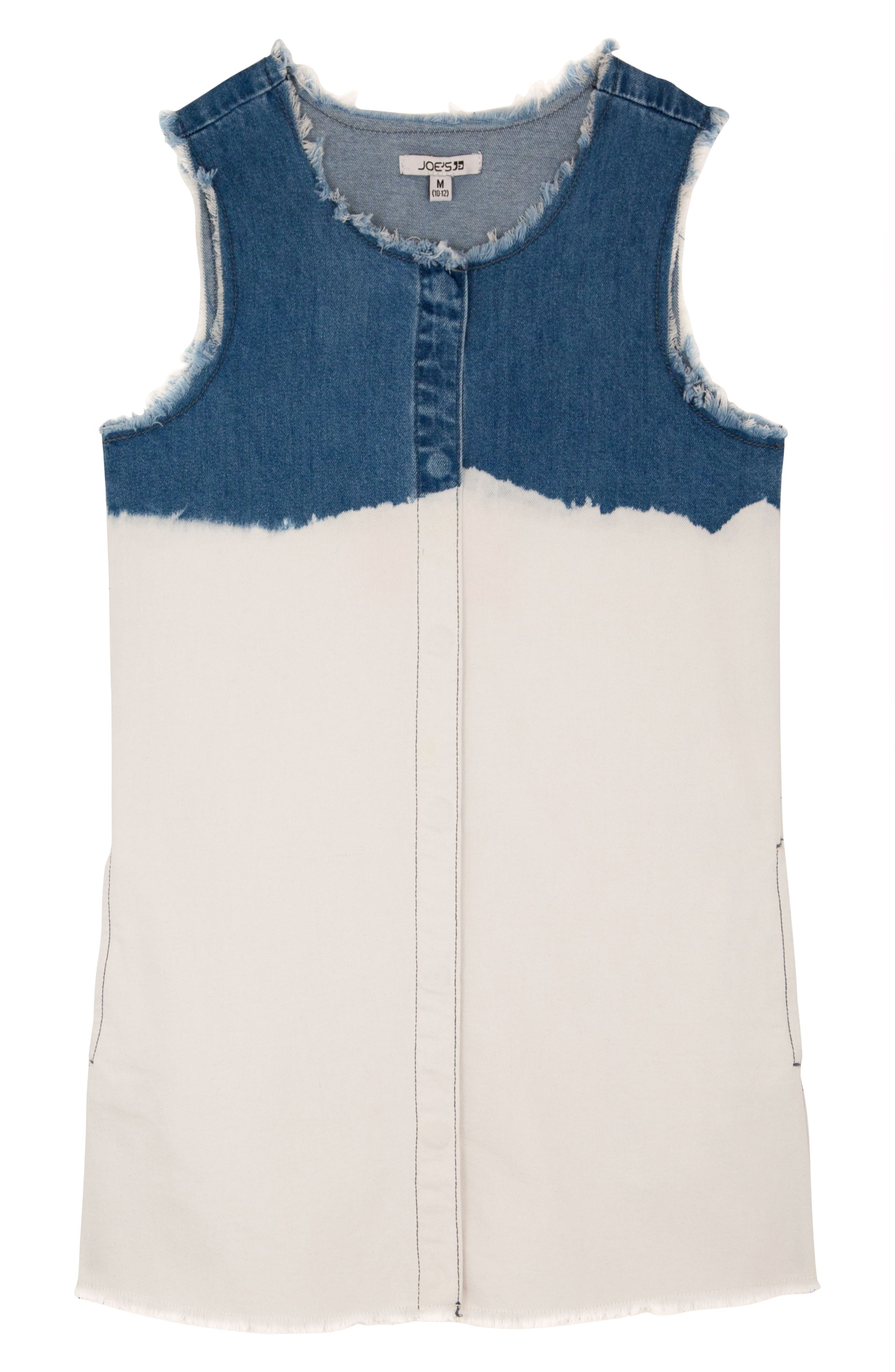 Joe's Fray Bleach Denim Shift Dress,                         Main,                         color, MAR1-MARINA