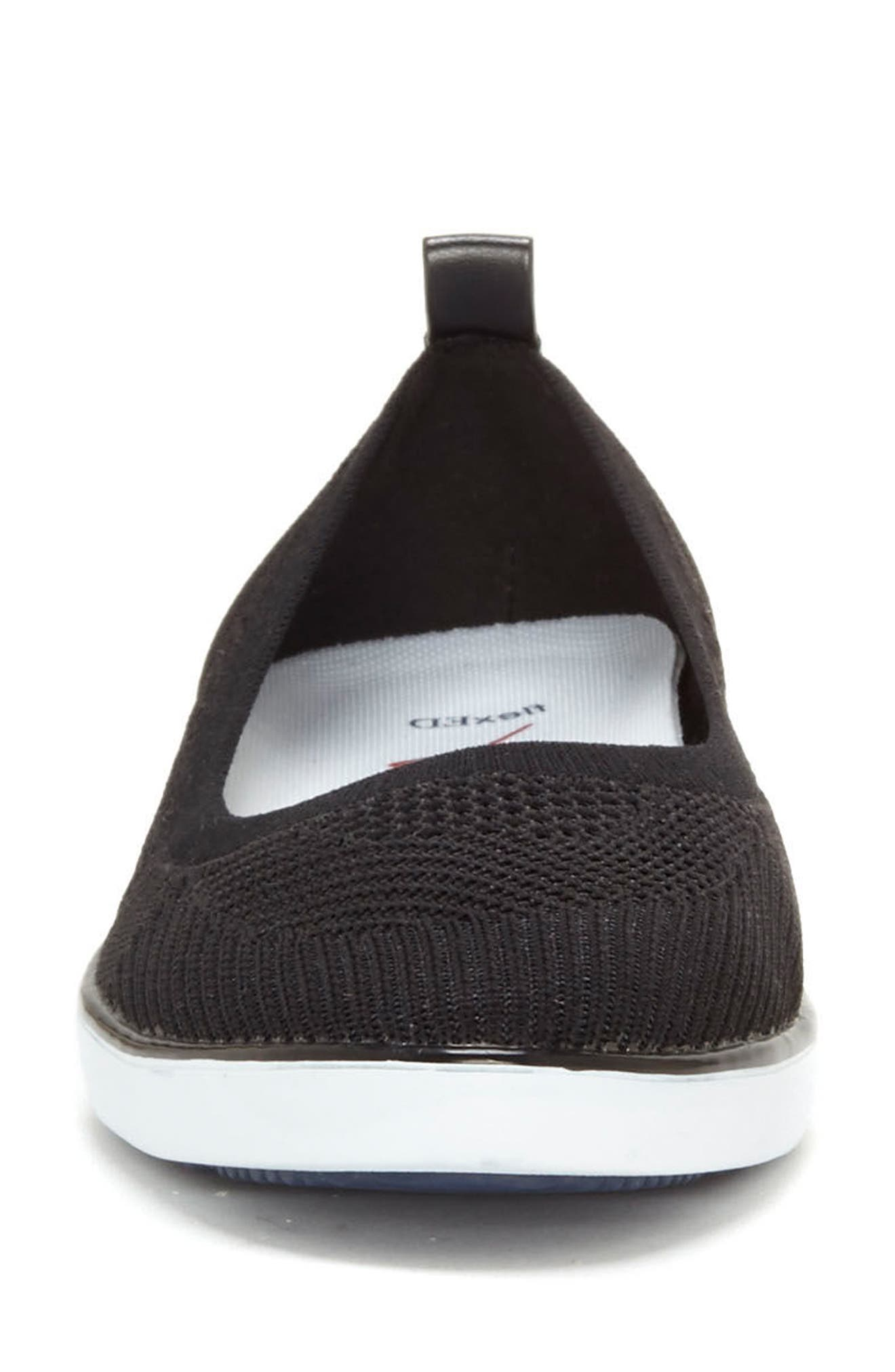 Afuera Flat,                             Alternate thumbnail 4, color,                             BLACK KNIT FABRIC