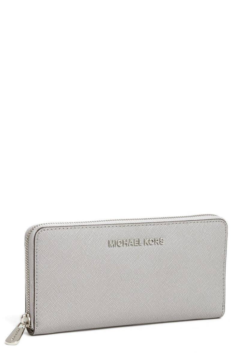 c15e6200532273 MICHAEL MICHAEL KORS 'Jet Set' Zip Around Continental Wallet, Main, color,