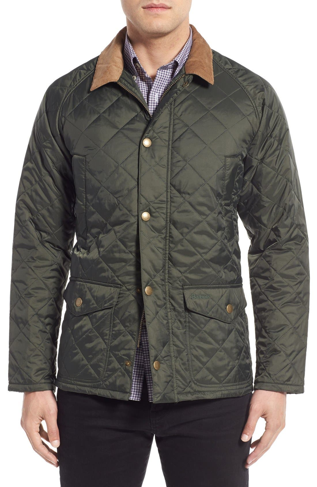 'Canterdale' Slim Fit Water-Resistant Diamond Quilted Jacket,                             Main thumbnail 1, color,                             305