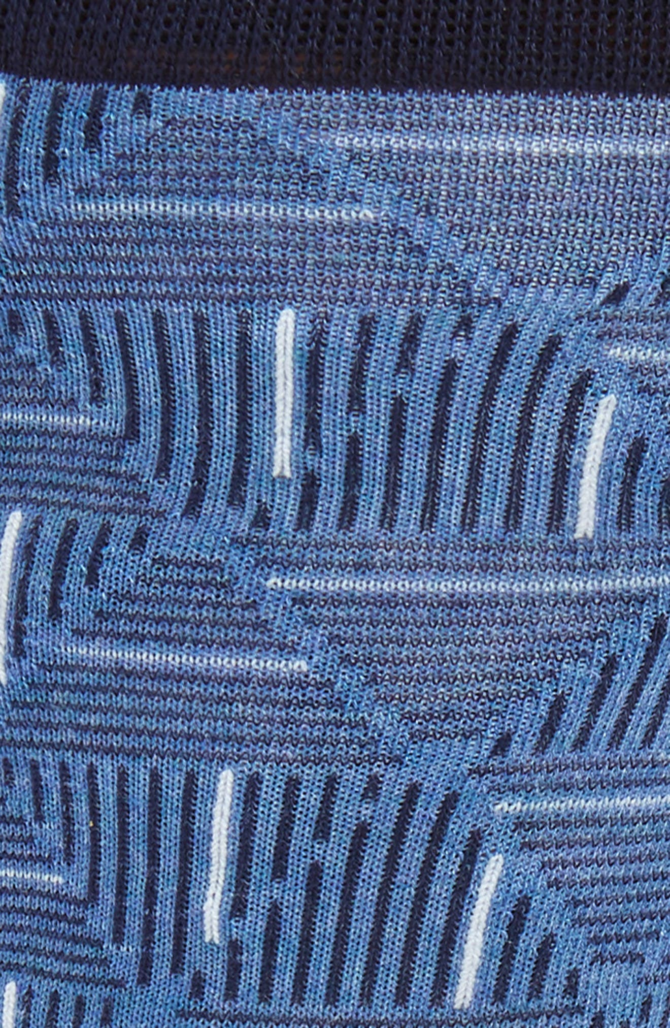 Triangle Lines Geometric Socks,                             Alternate thumbnail 2, color,                             401