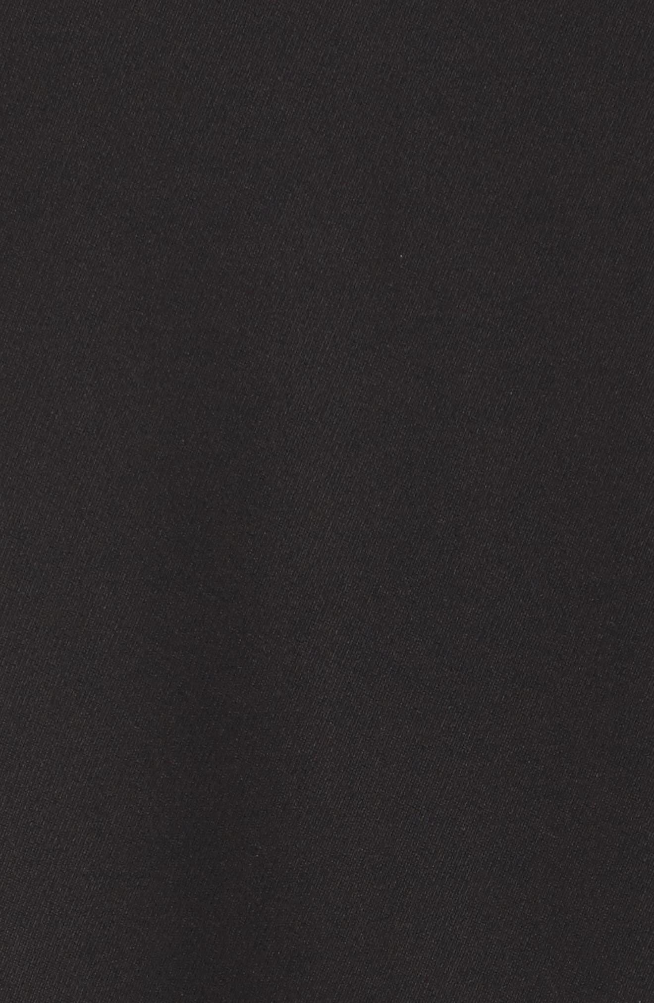 Lace & Crepe Shift Dress,                             Alternate thumbnail 5, color,                             010