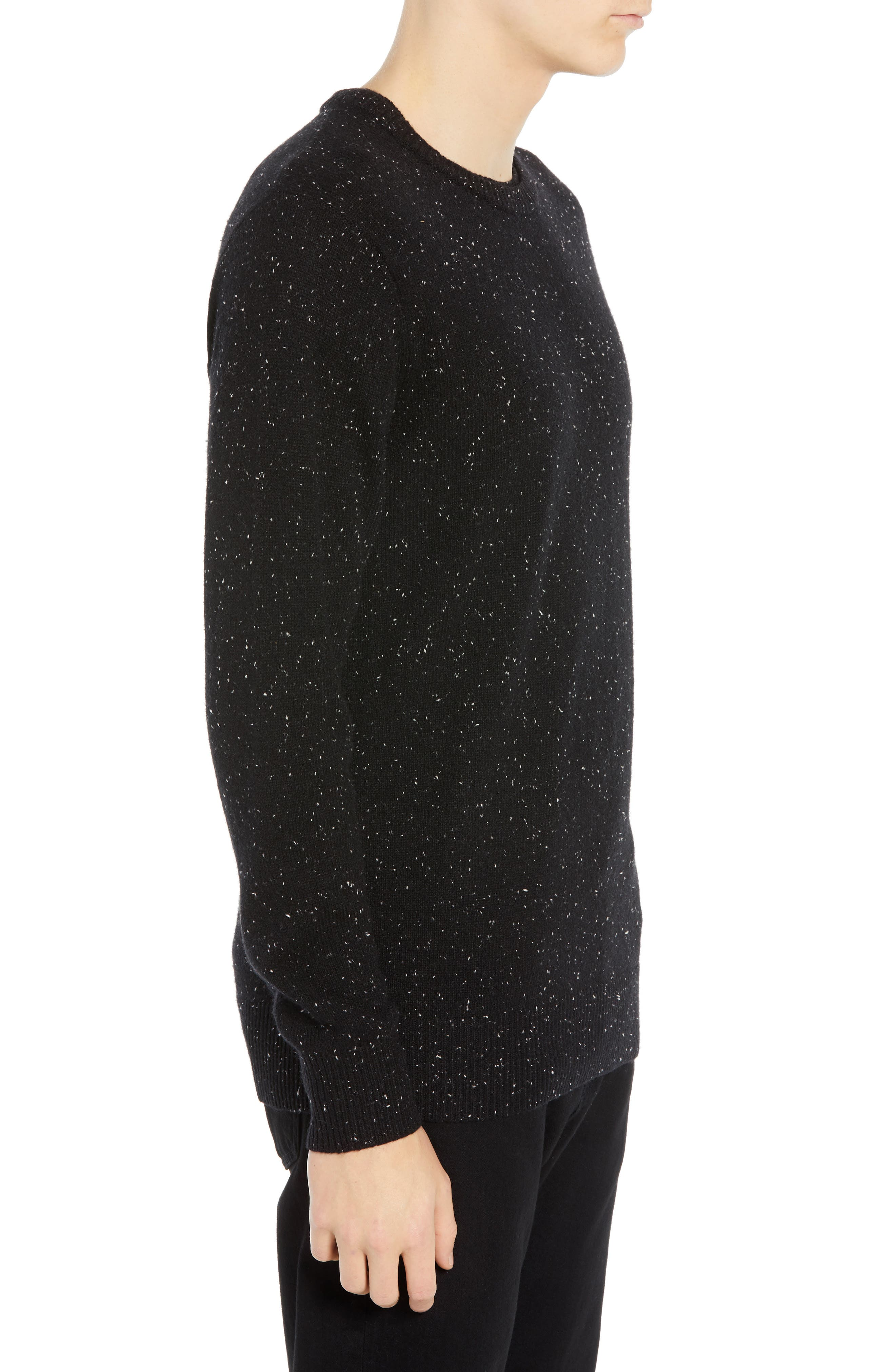 Nepped Wool Blend Sweater,                             Alternate thumbnail 3, color,                             COMBO B