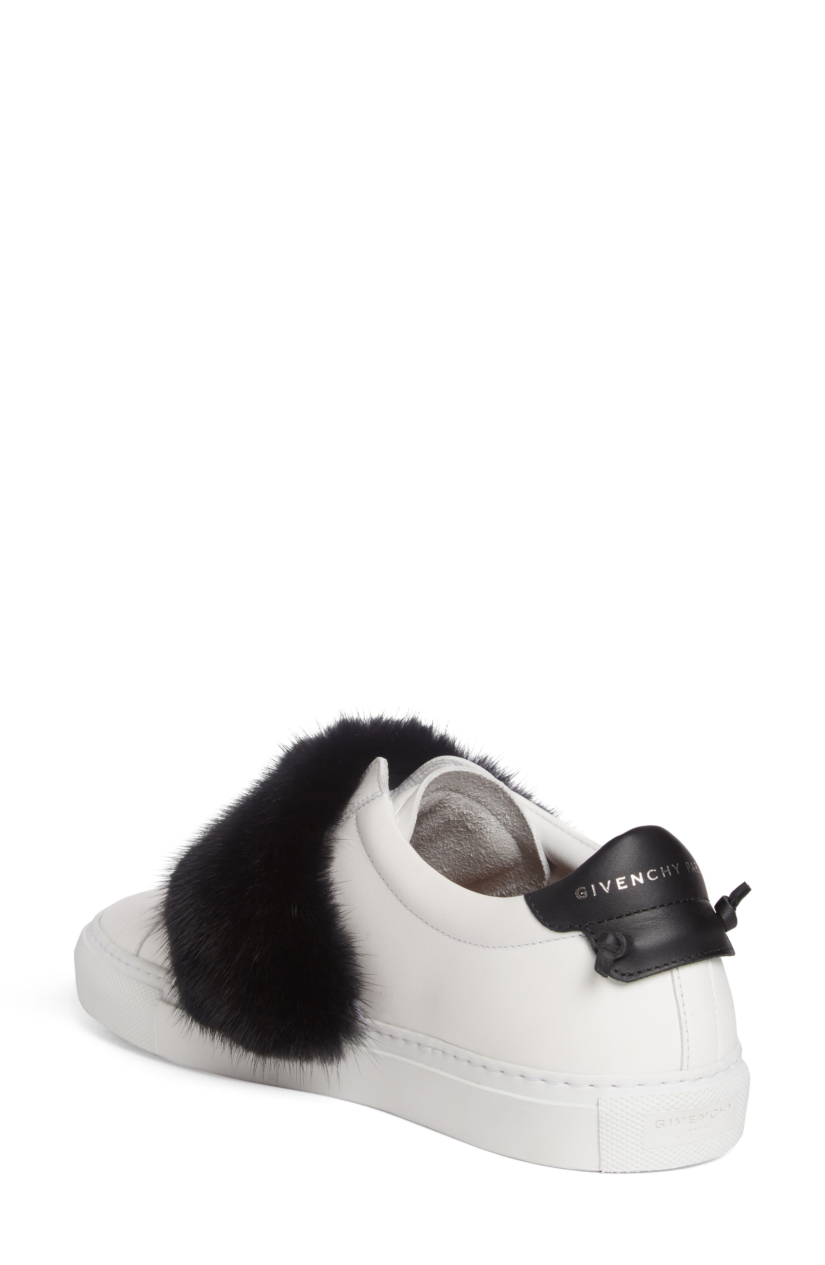 Urban Street Slip-On Sneaker with Genuine Mink Fur Trim,                             Alternate thumbnail 8, color,