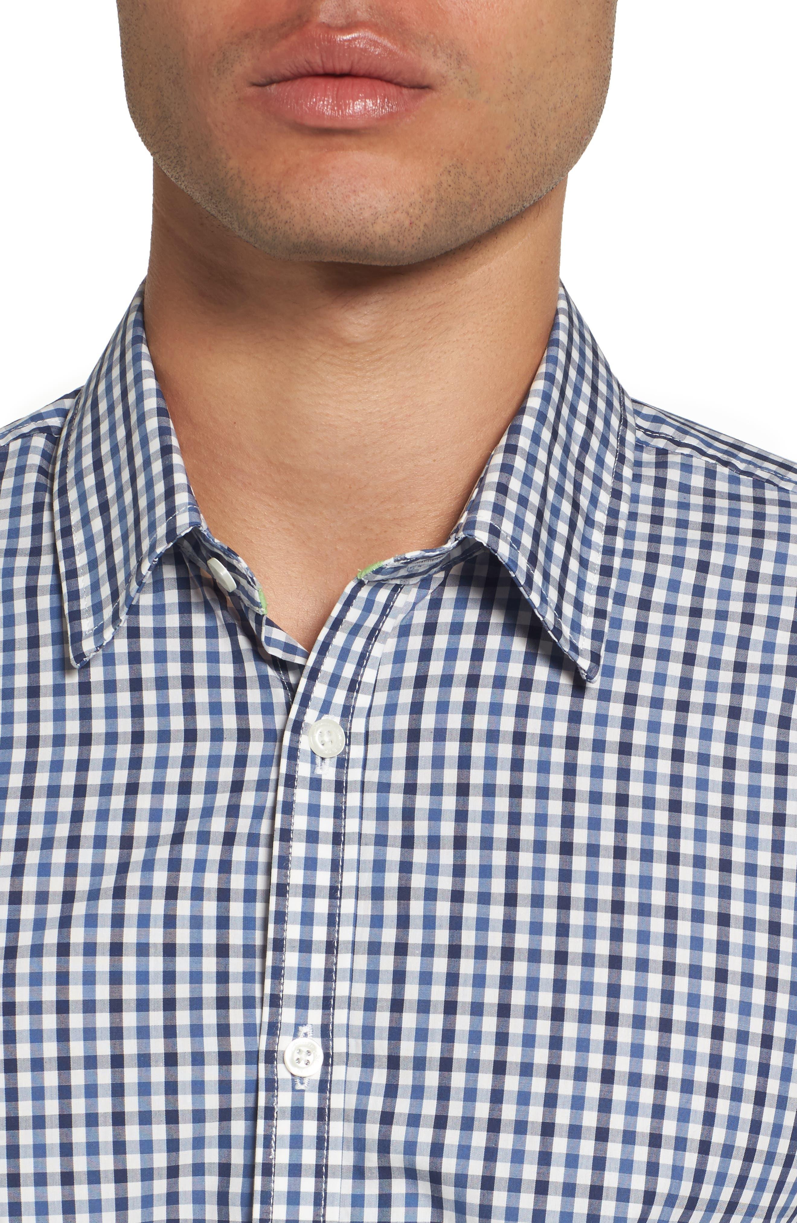 Comfort Fit Check Sport Shirt,                             Alternate thumbnail 4, color,                             424