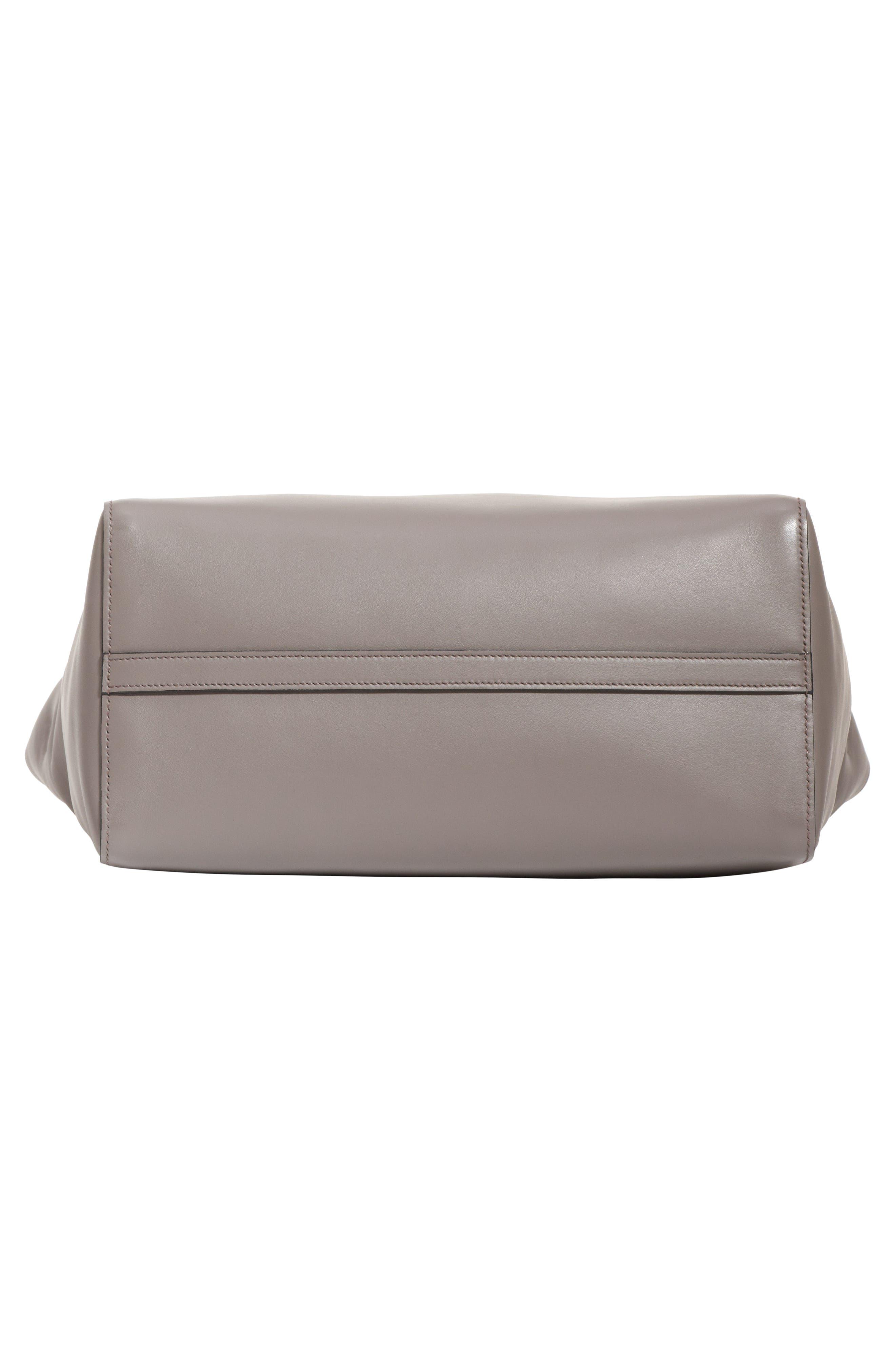 Etiquette Leather Shoulder Bag,                             Alternate thumbnail 5, color,                             250